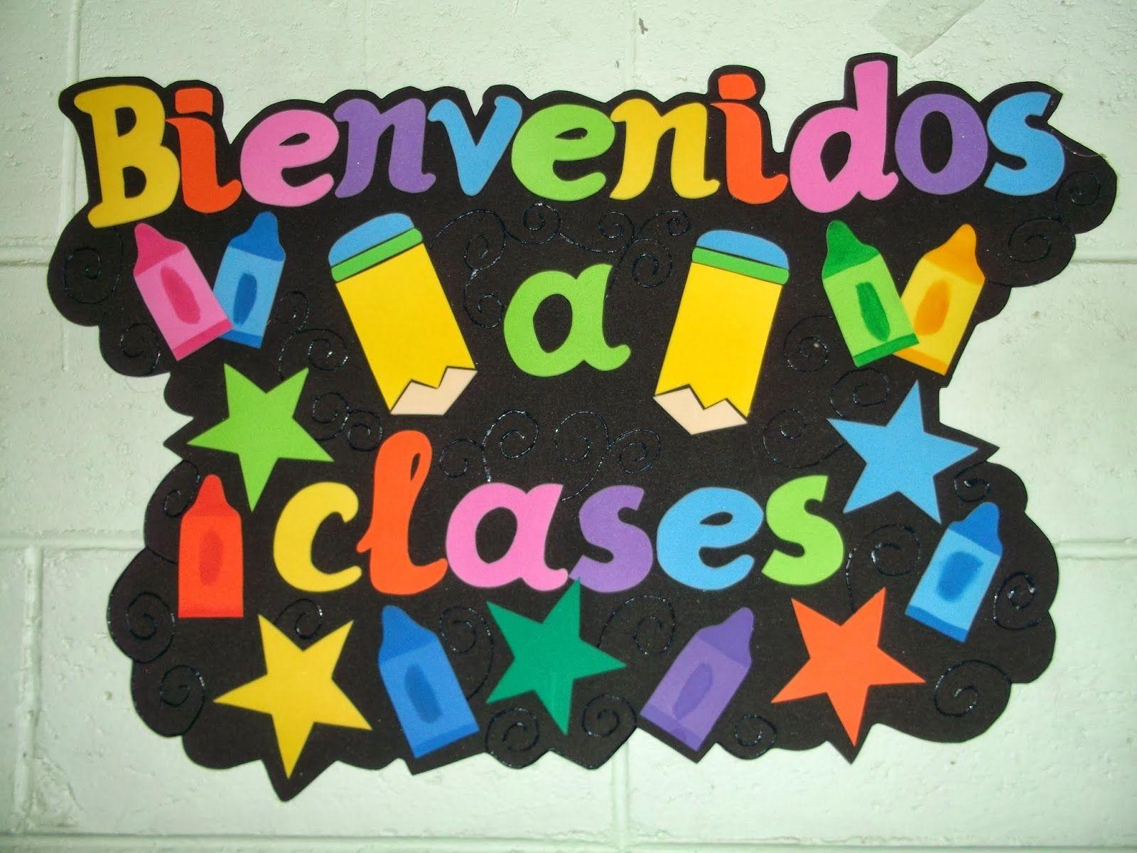 Cartel de bienvenidos a clases hechos en foami Imagui