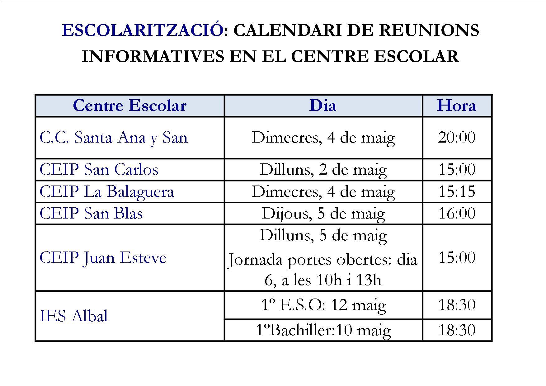 Calendario 2019 Escolar Valencia Más Caliente Mestre A Casa Ceip La Balaguera Albal Inici