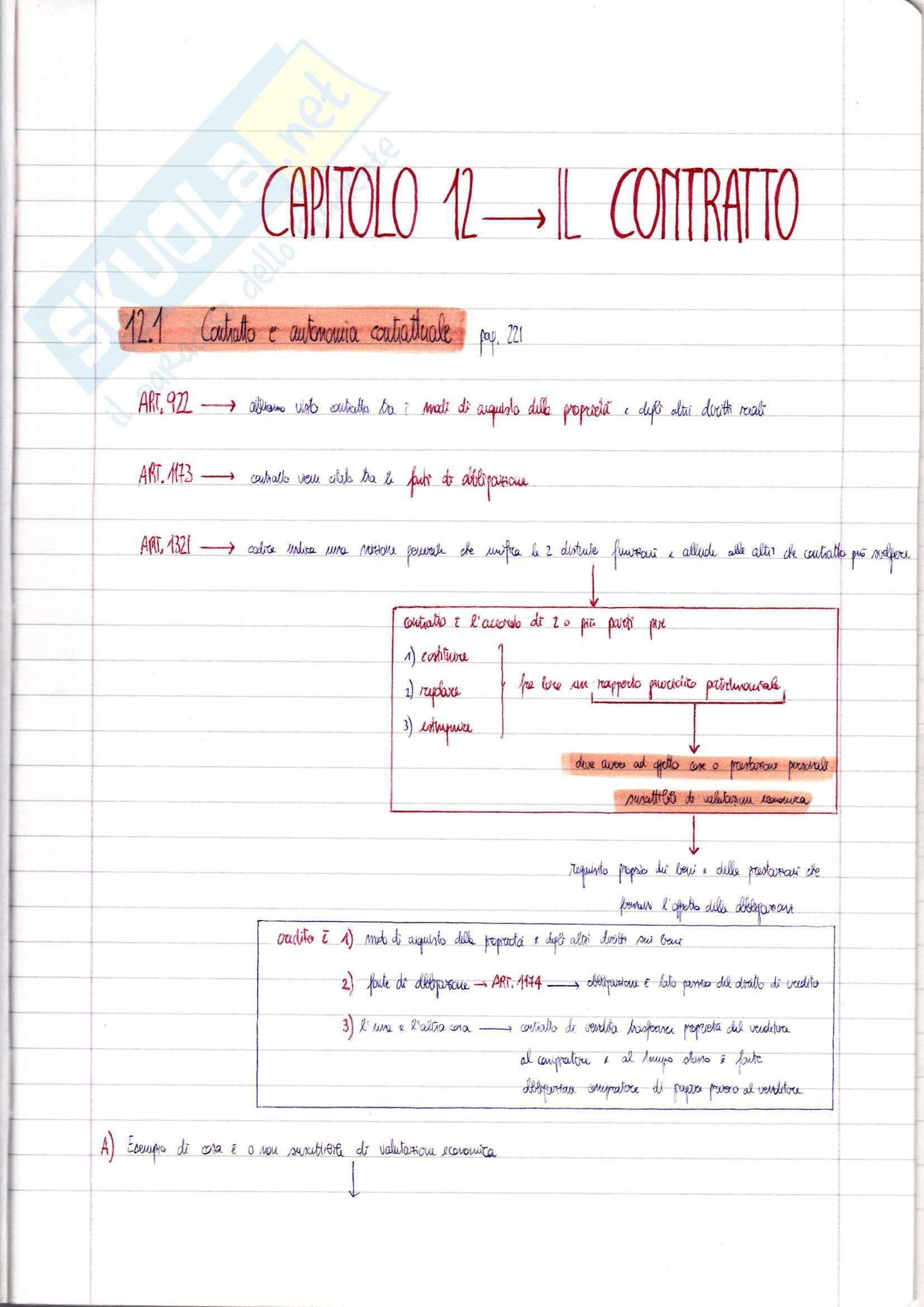 Riassunto esame Diritto Privato prof Ciatti libro consigliato Diritto Privato Il contratto