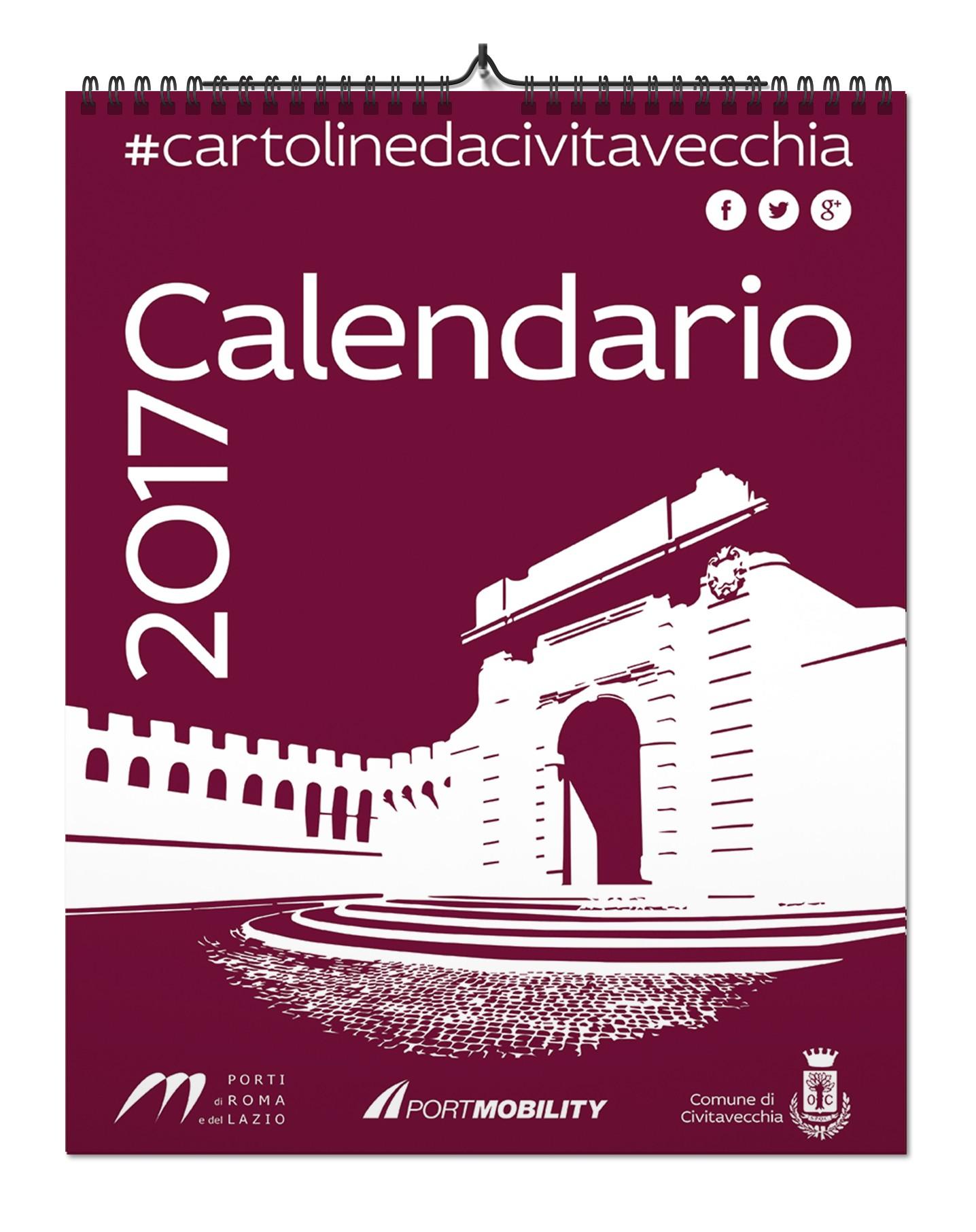 La copertina del Calendario 2017 di Cartoline Da Civitavecchia