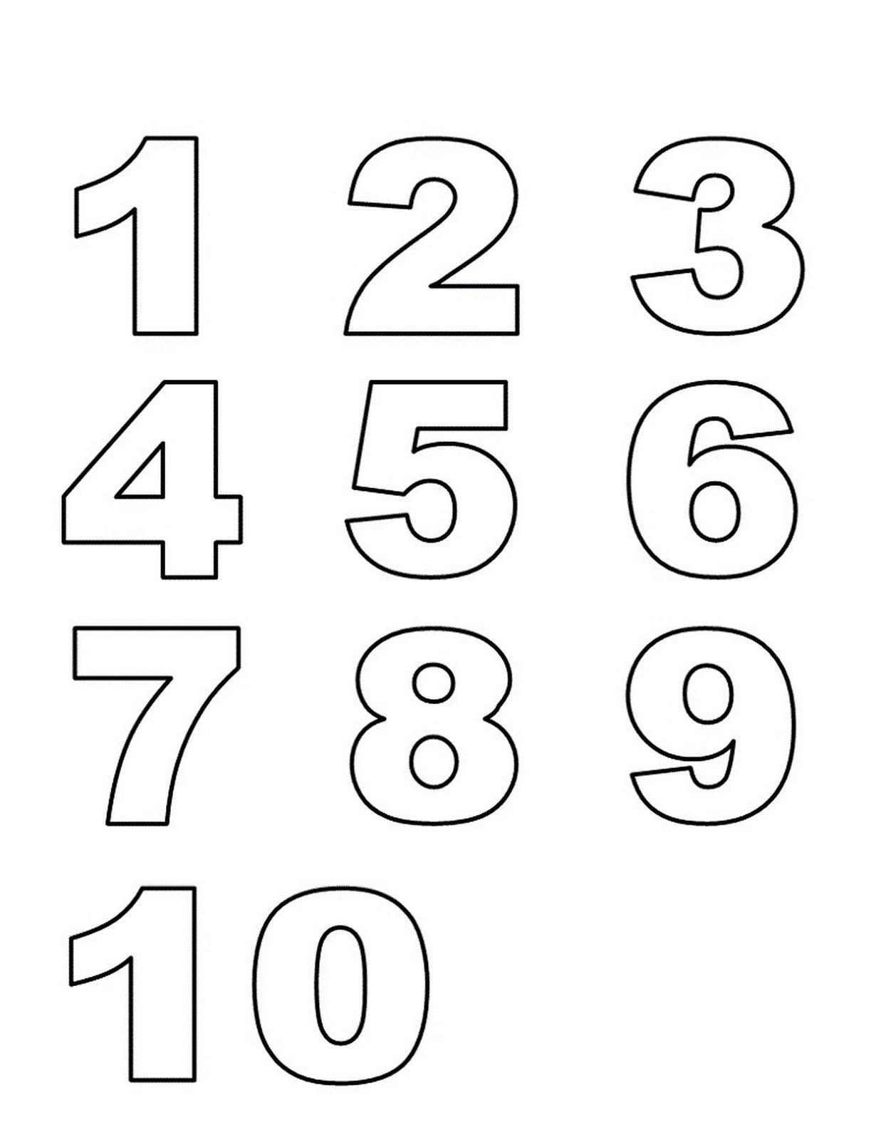 numbers 1 10 preschool printables list