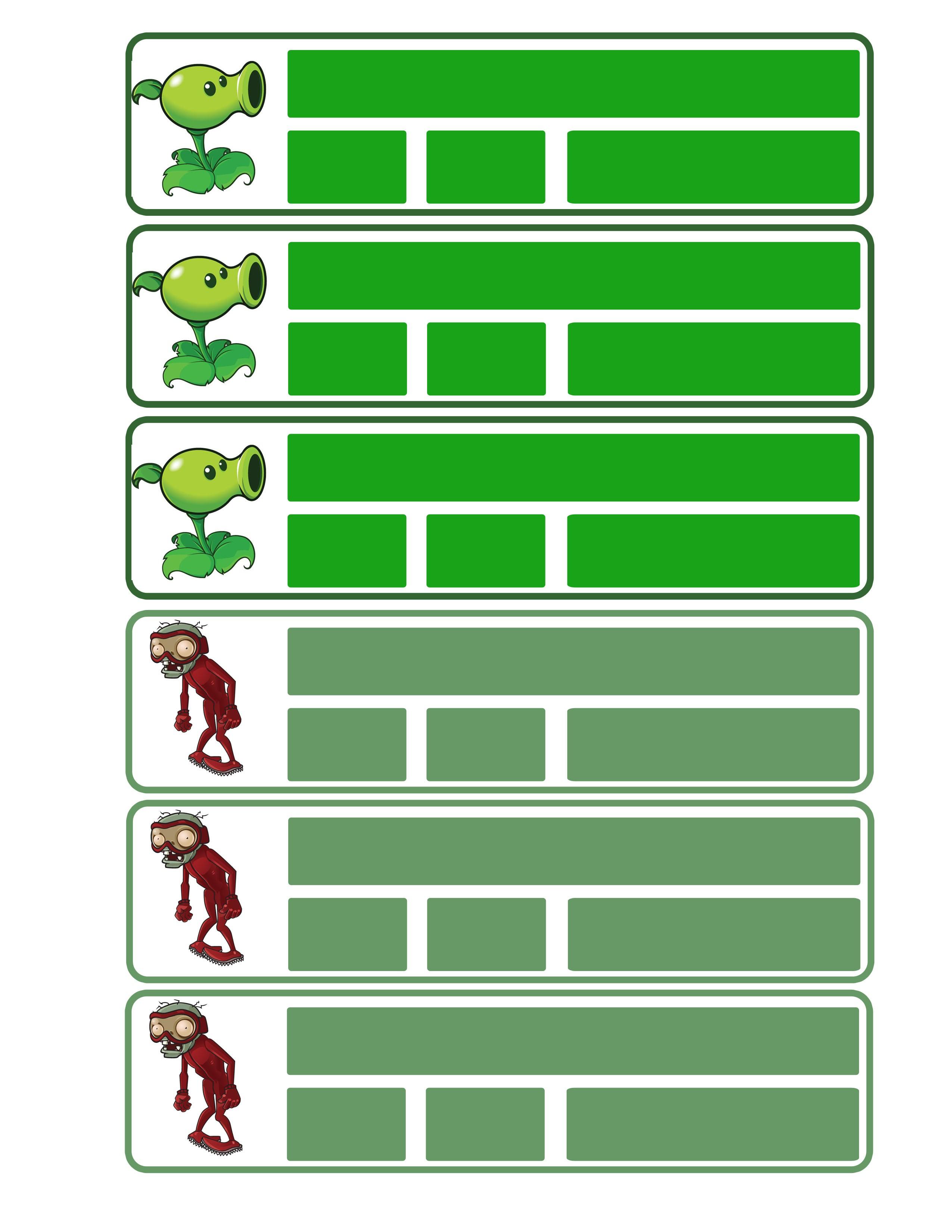 seguimos con las etiquetas para cuaderno y en este caso son de Plantas vs Zombies un juego que tiene mas de 6 a±os en el mercado pero que sigue causando