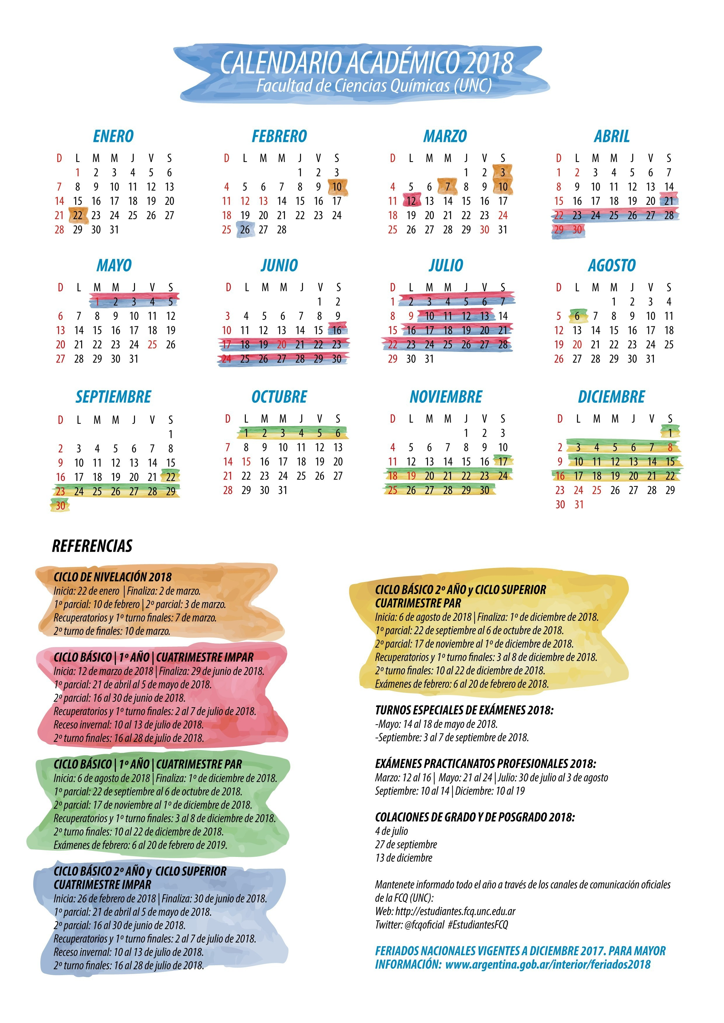 Medios Calendario 2016 Para Imprimir Con Feriados Chile
