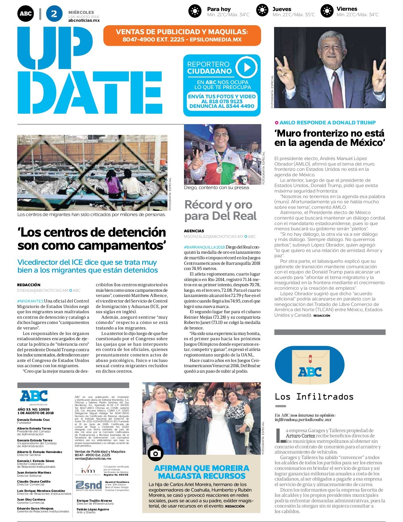 Peri³dico ABC 1 de Agosto de 2018 Pages 1 16 Text Version