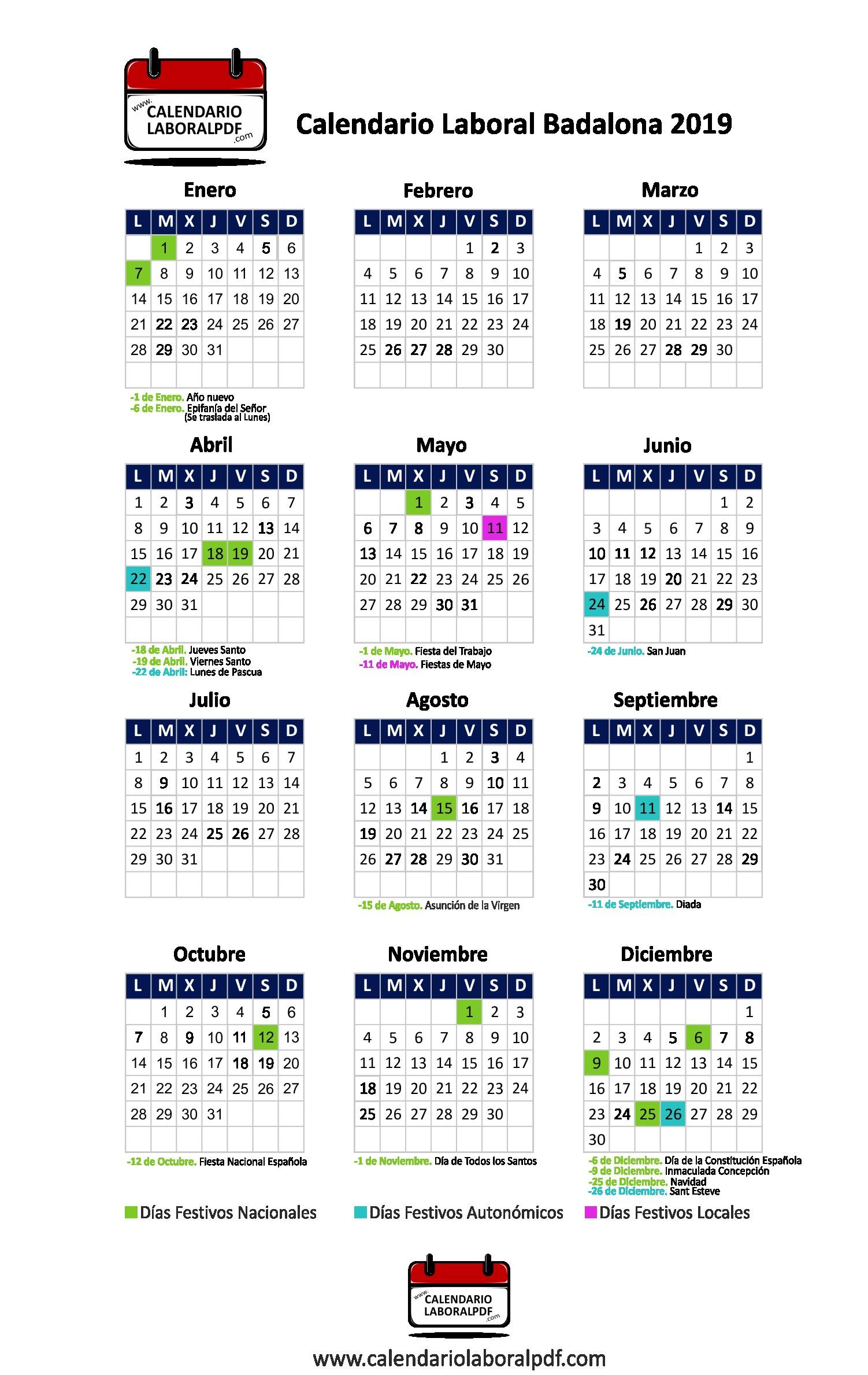 Calendario laboral badalona ¡descárgalo gratis png 1502x2378 Pascua 2019
