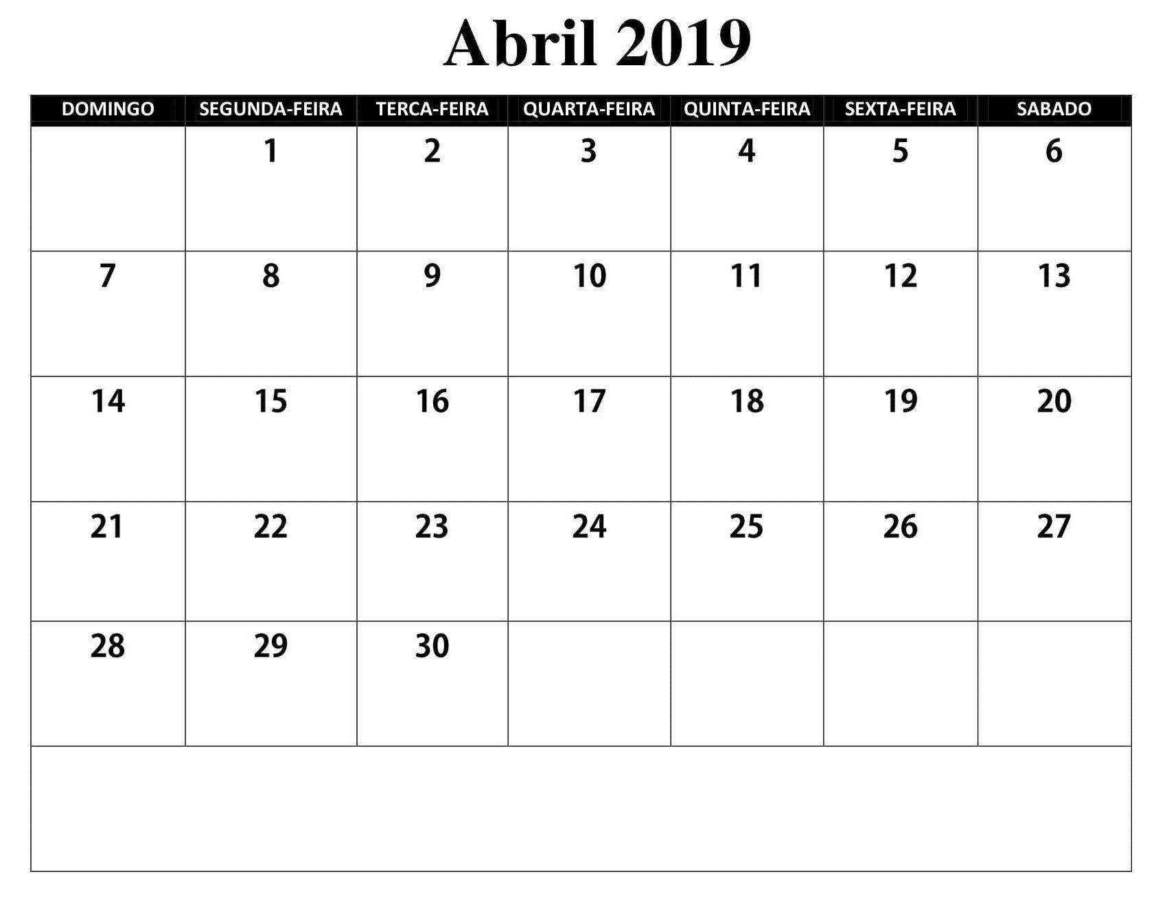 Calendario Imprimir Abril 2019.Sin Embargo Este Es Calendario 2019 Mes Abril Calendario 2019