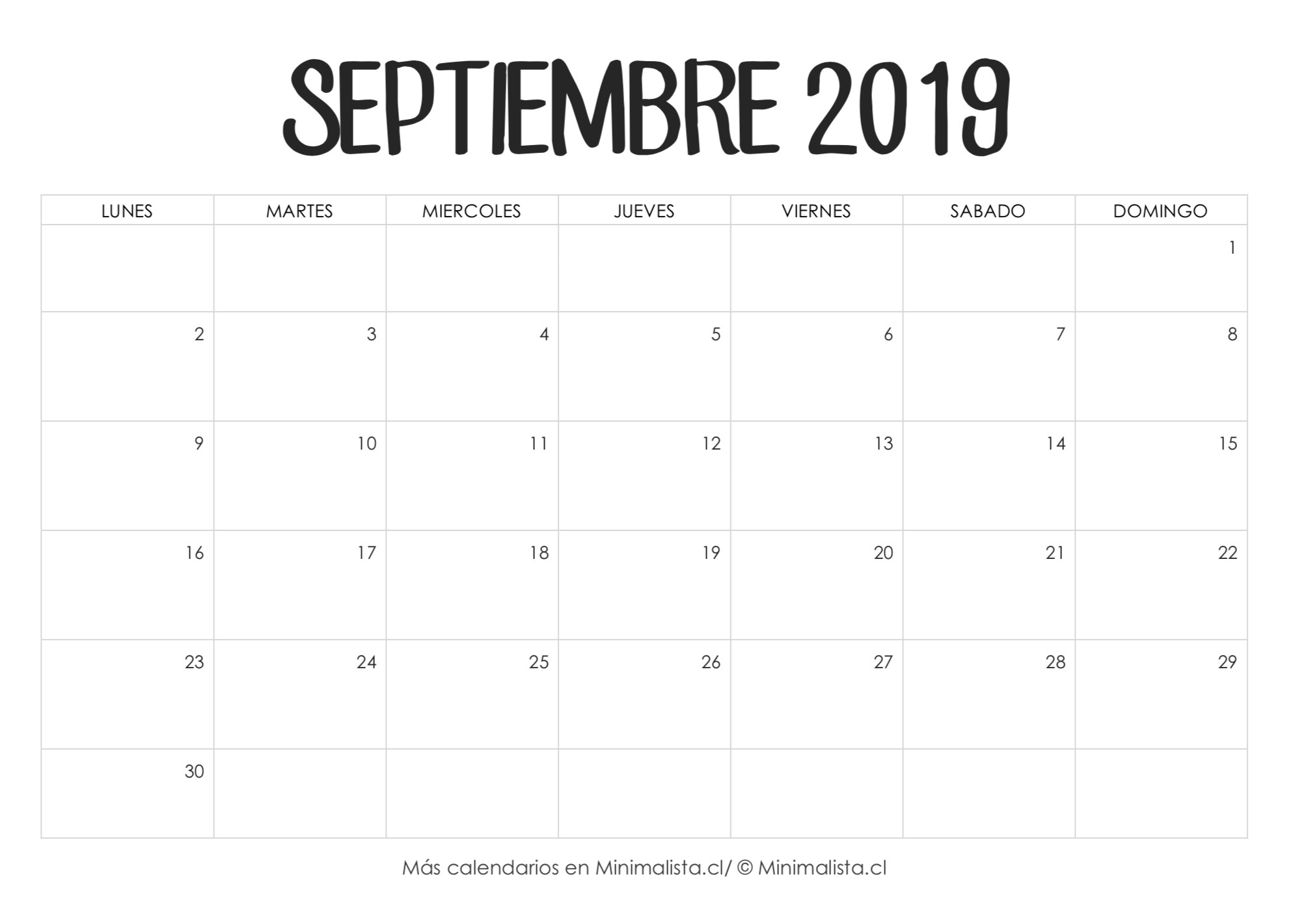 Calendarios para imprimir minimalista png 1990x1420 Calendario 2019 para imprimir por mes