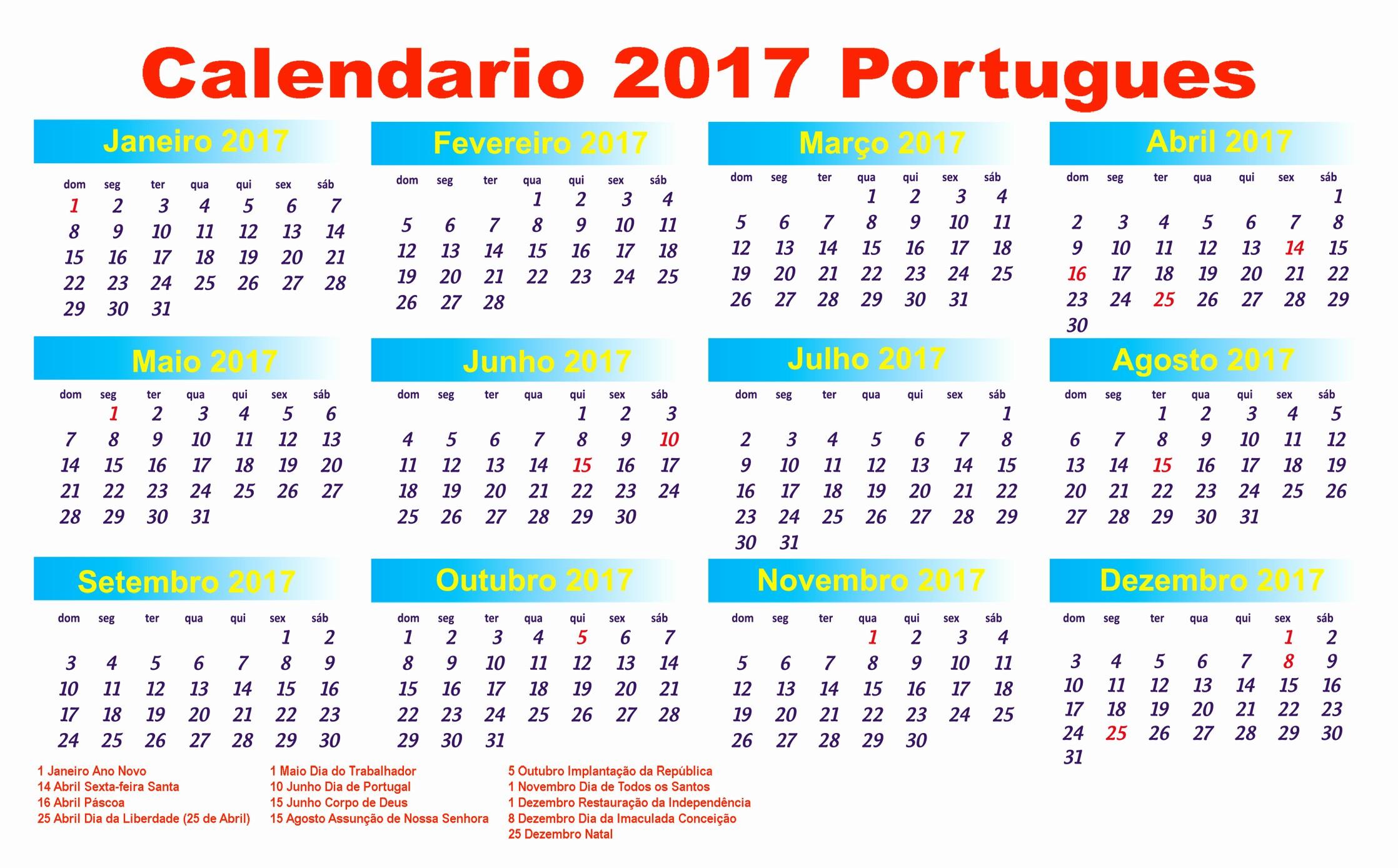Calendário 2019 Feriados Nacionais Calendario 2019 Feriados