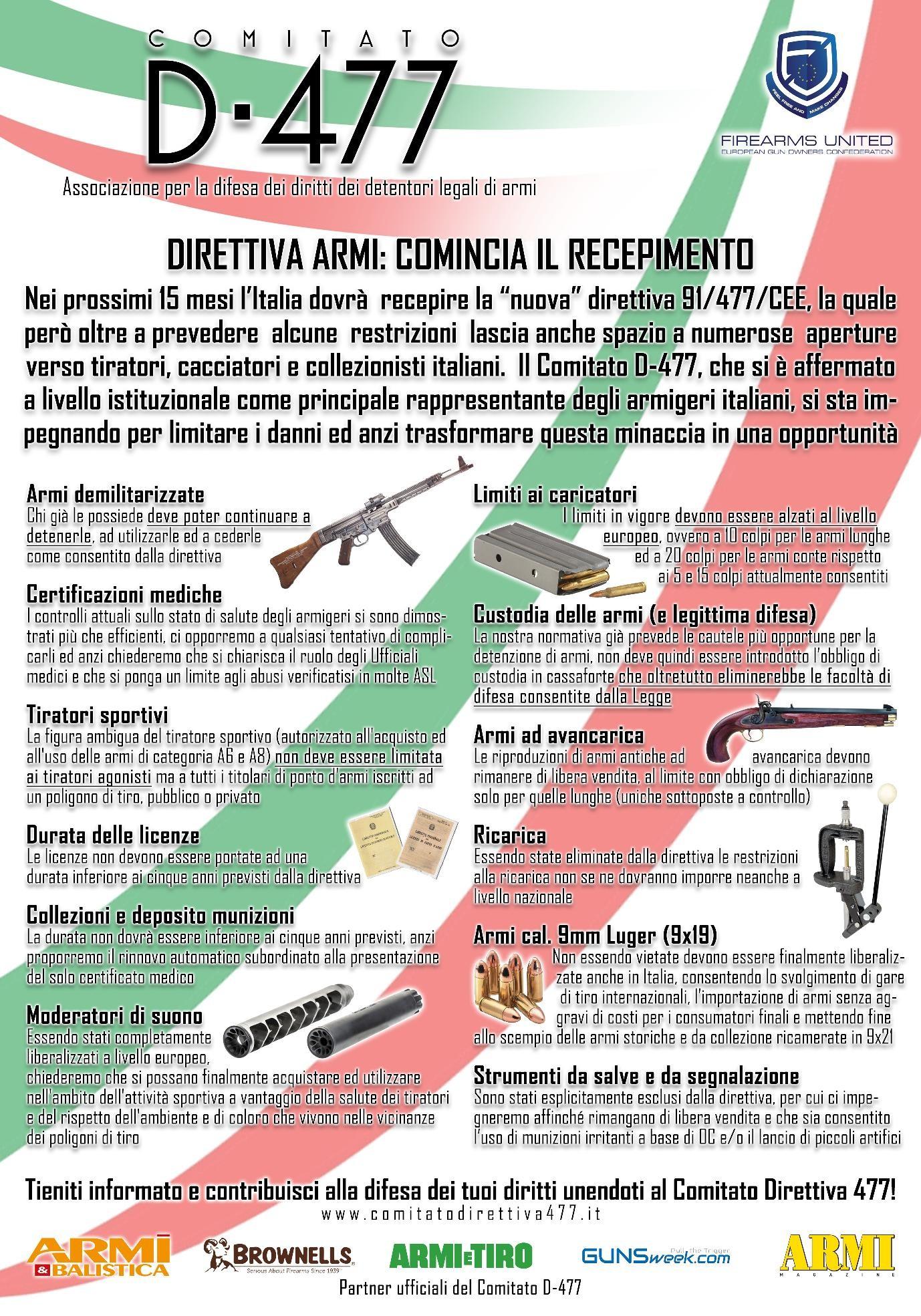 uso di munizioni irritanti a base di OC lo stesso principio delle olette gi di libera vendita e porto e di lancio di piccoli artifici pirotecnici