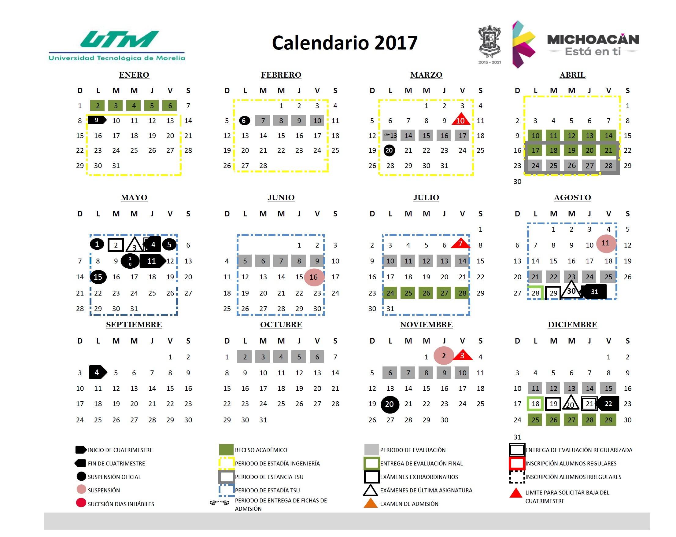 Calendario Laboral 2017 Excel