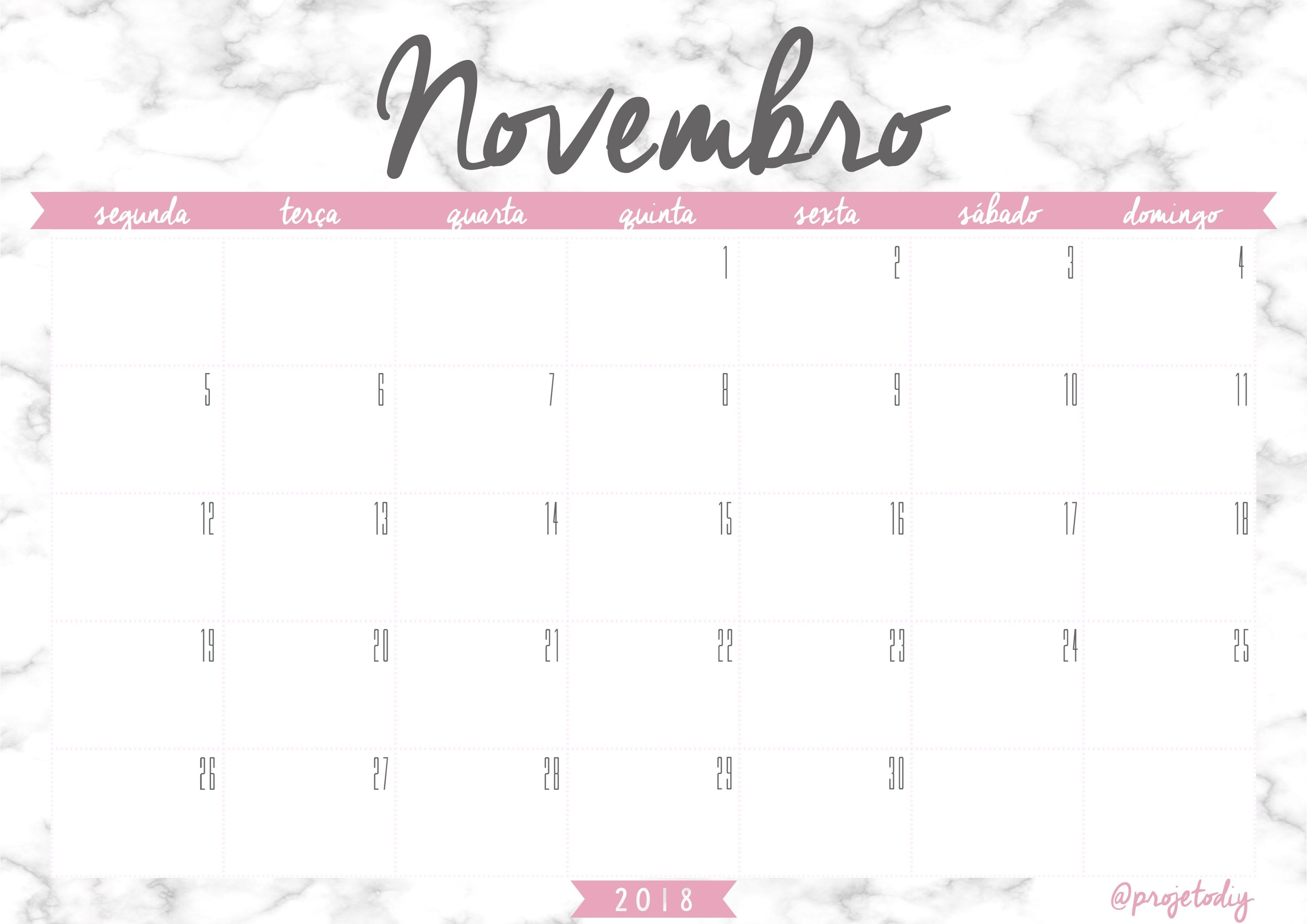 calendario 2018 novembro