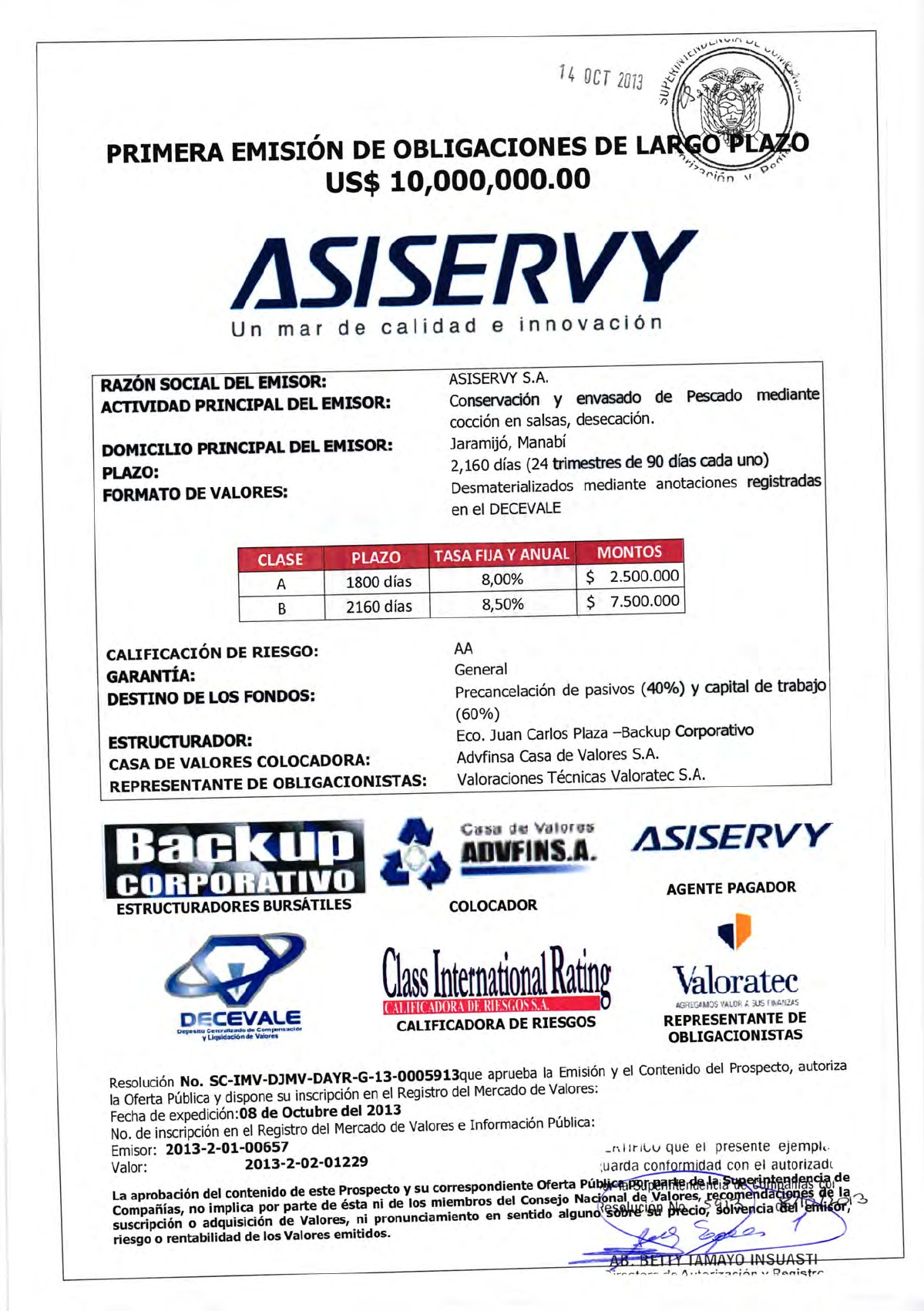 Prospecto OBL Asiservy [PDF Document]