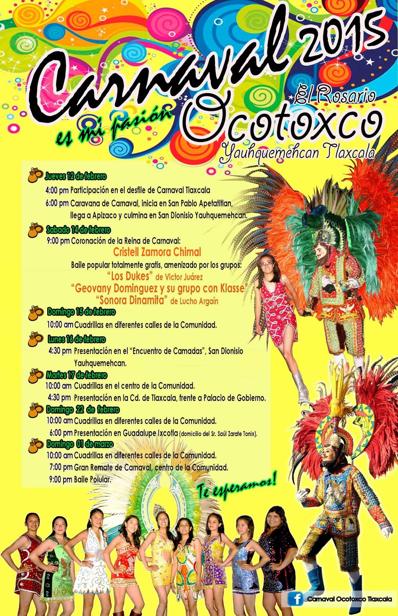 Programa Carnaval Tlaxcala 2015 Ocotoxco 2015