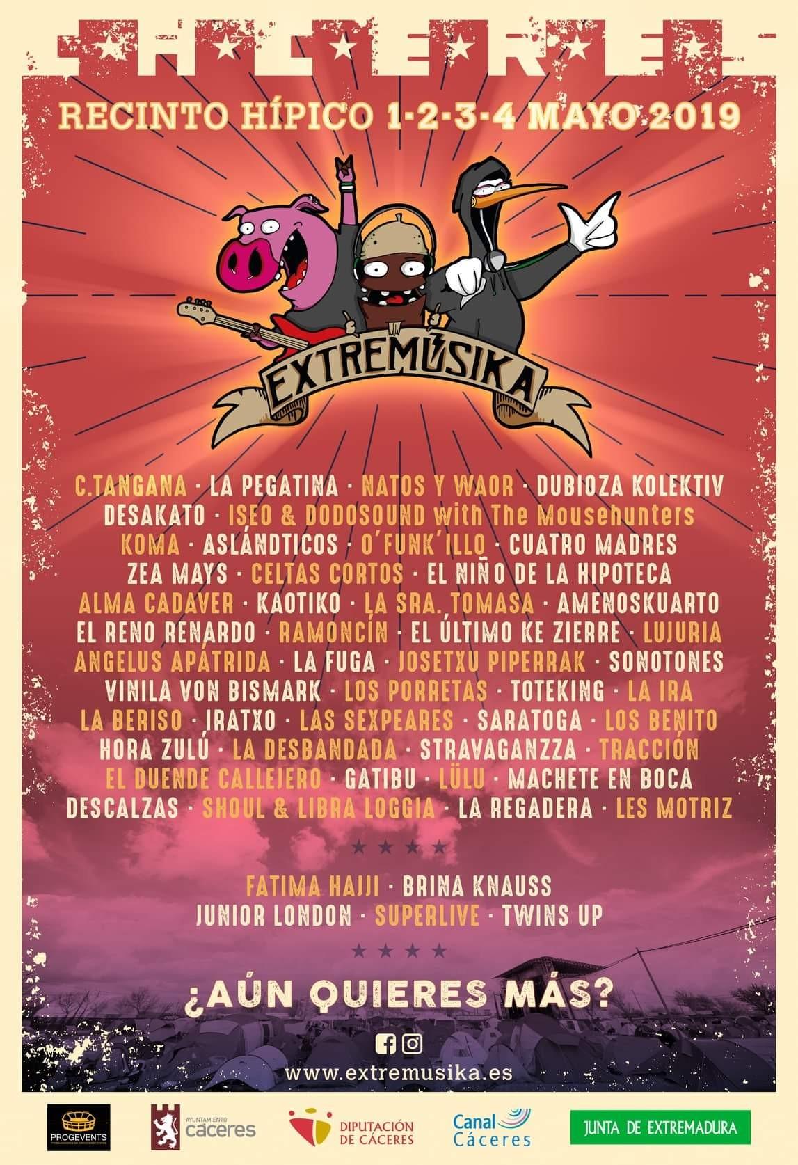 Extremºsika 2019 Un da más y primeras 40 bandas confirmadas