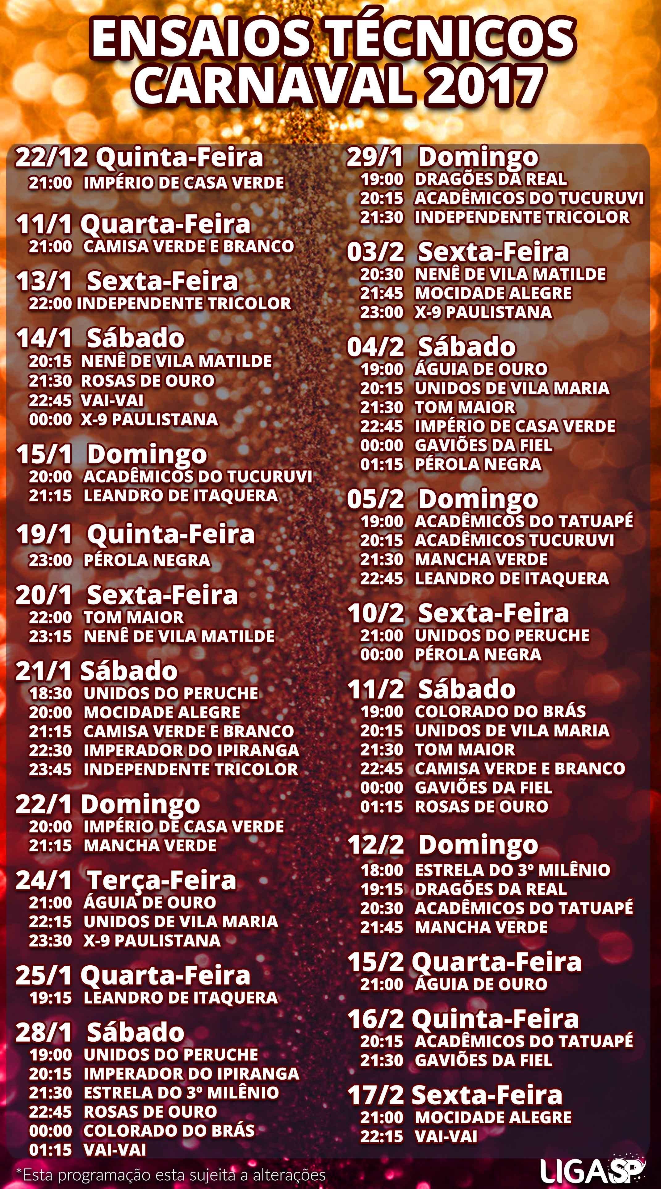 Calendario 2019 Rj Feriados Más Recientes Confira A Programa§£o Dos Ensaios Das Escolas De Samba De Sp Para O