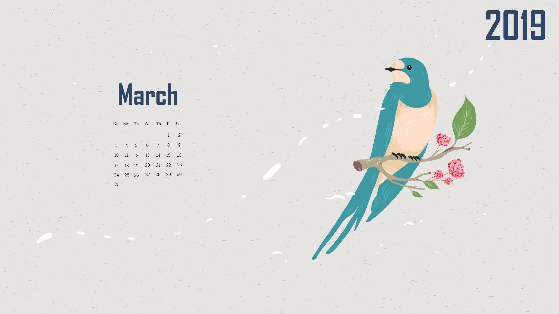 March 2019 Calendar Wallpaper