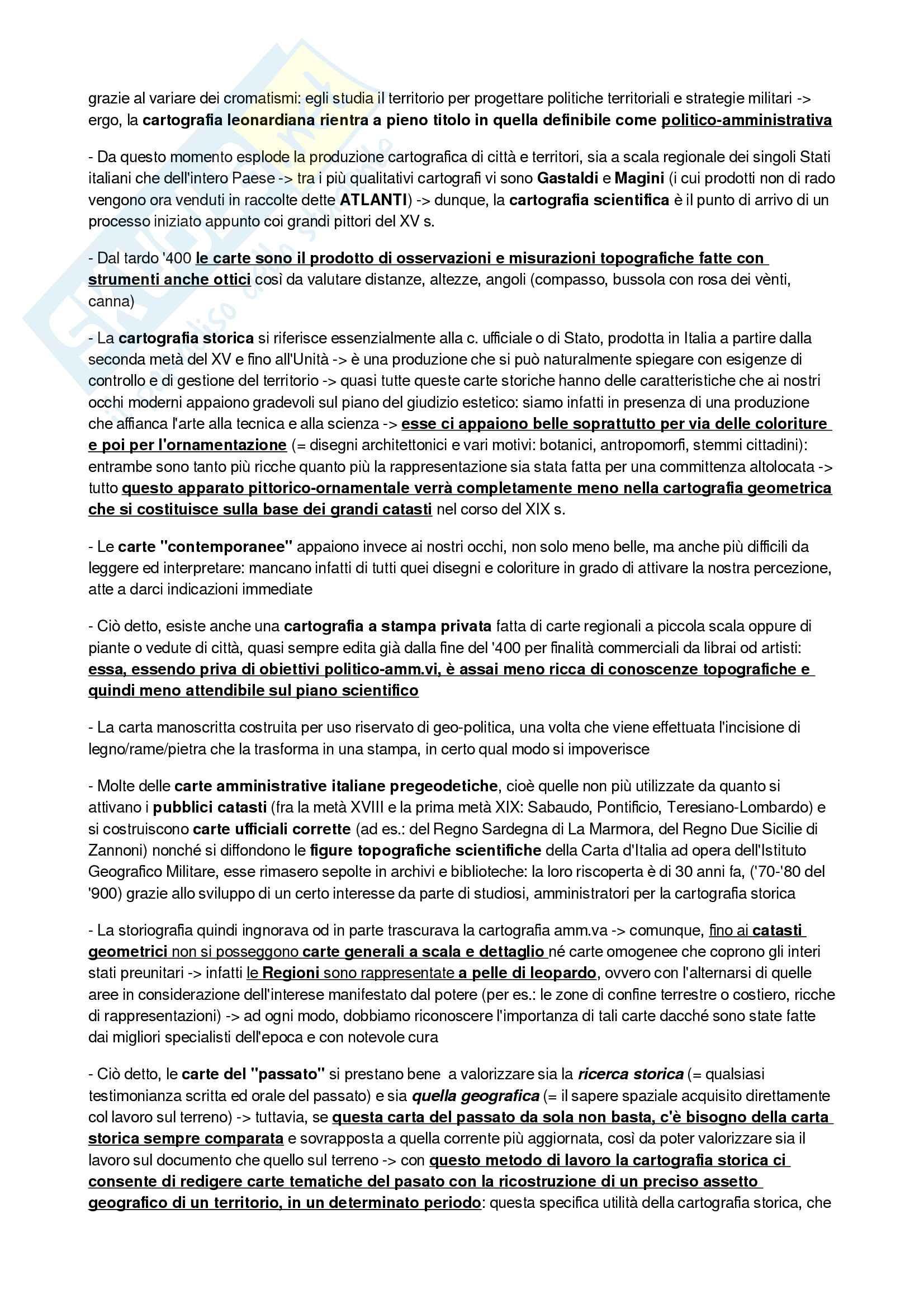 Riassunto di Geografia Storica prof Morri libro consigliato Geografia Storica dell Italia