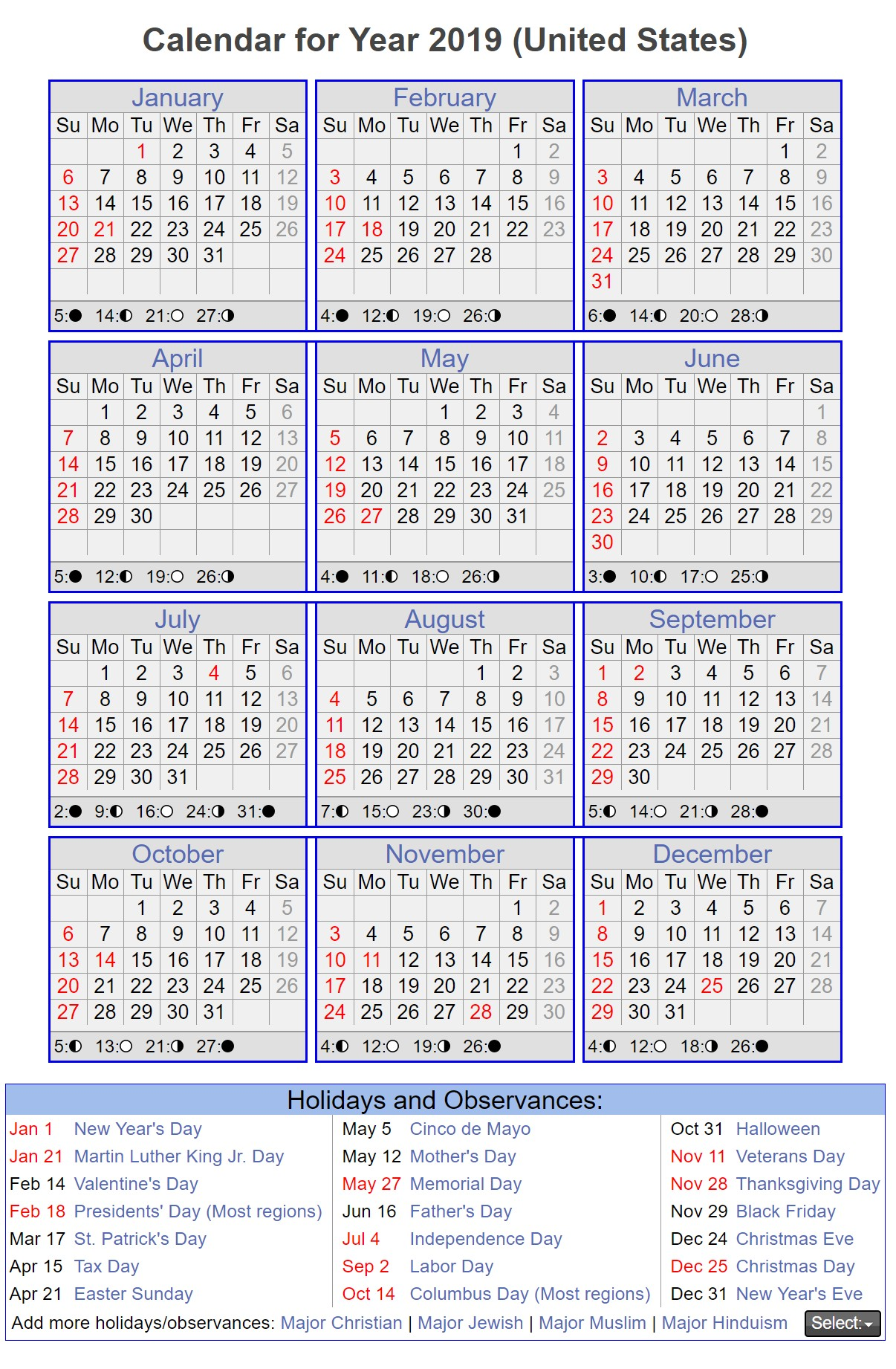 Calendario 2019 Vector Gratis Más Populares One Year Calendar 2019 with Blank Us Holidays 12 Months On Of Calendario 2019 Vector Gratis Más Recientes Advice Regarding Calendar 2019 Chinese New Year Calendar Online 2019