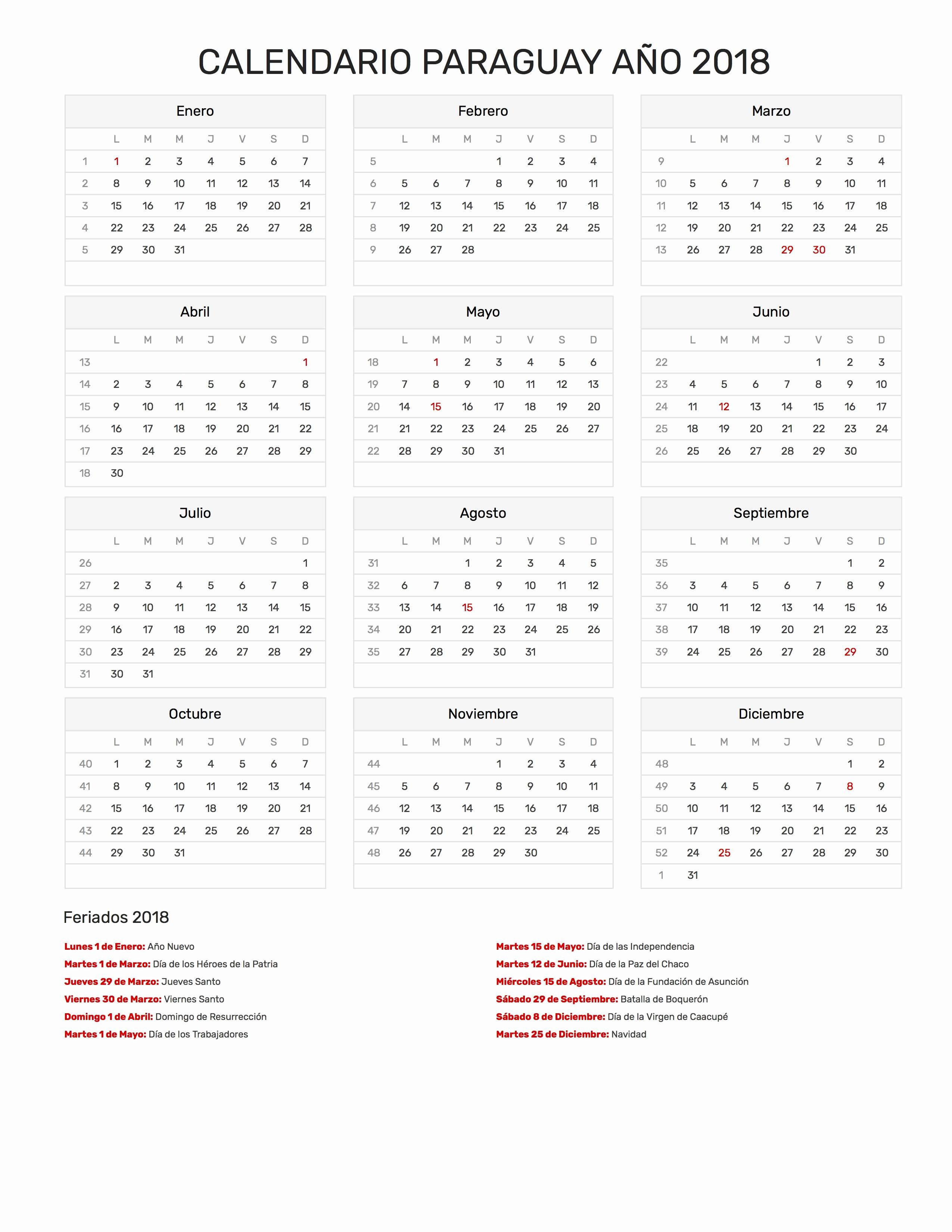 calendario paraguay 2019 calendario paraguay 2019 calendario paraguay ano 2018 feriados