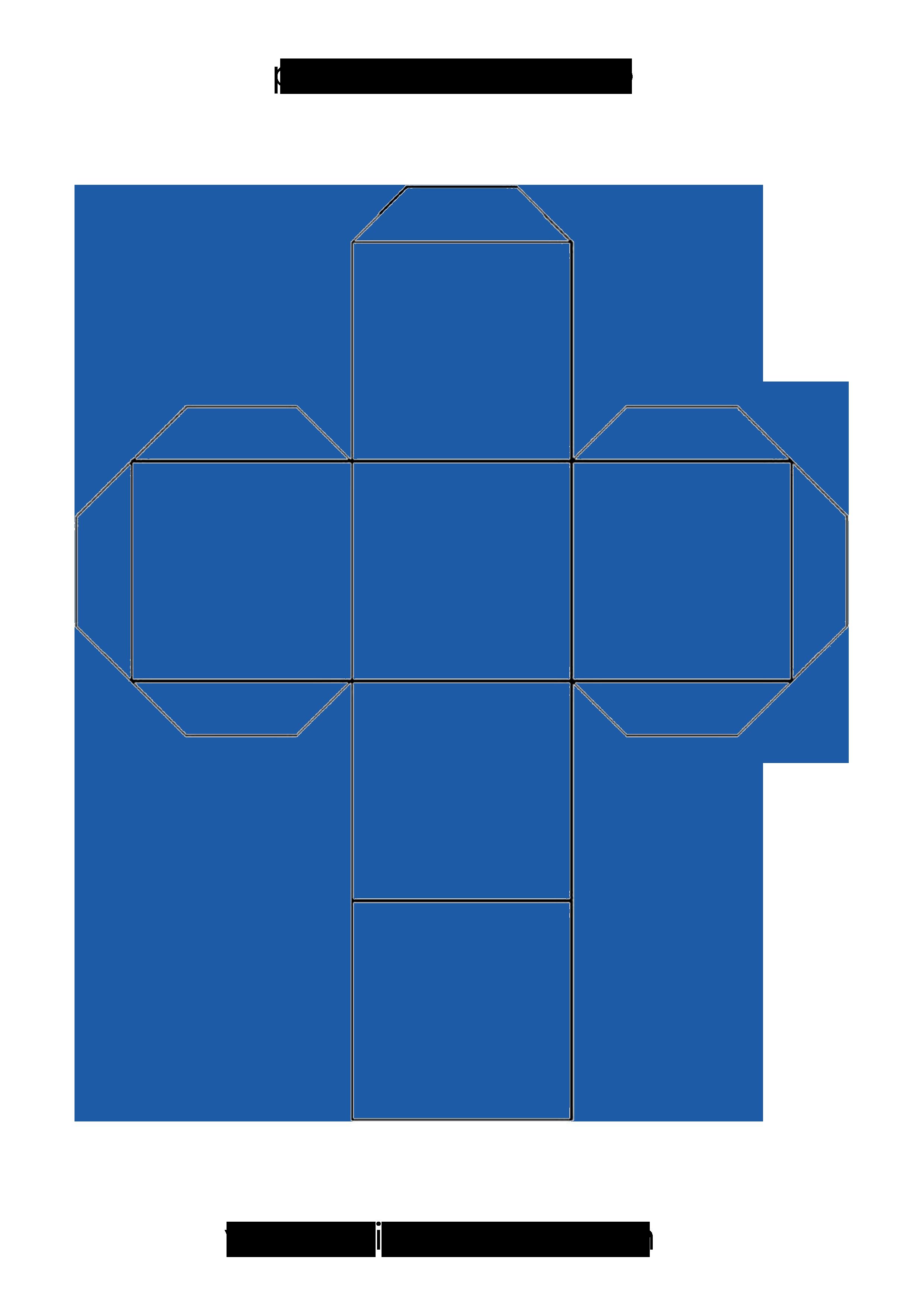 Plantilla par imprimir y crear un cubo en papel o cartulina plantillas cubo templates cube