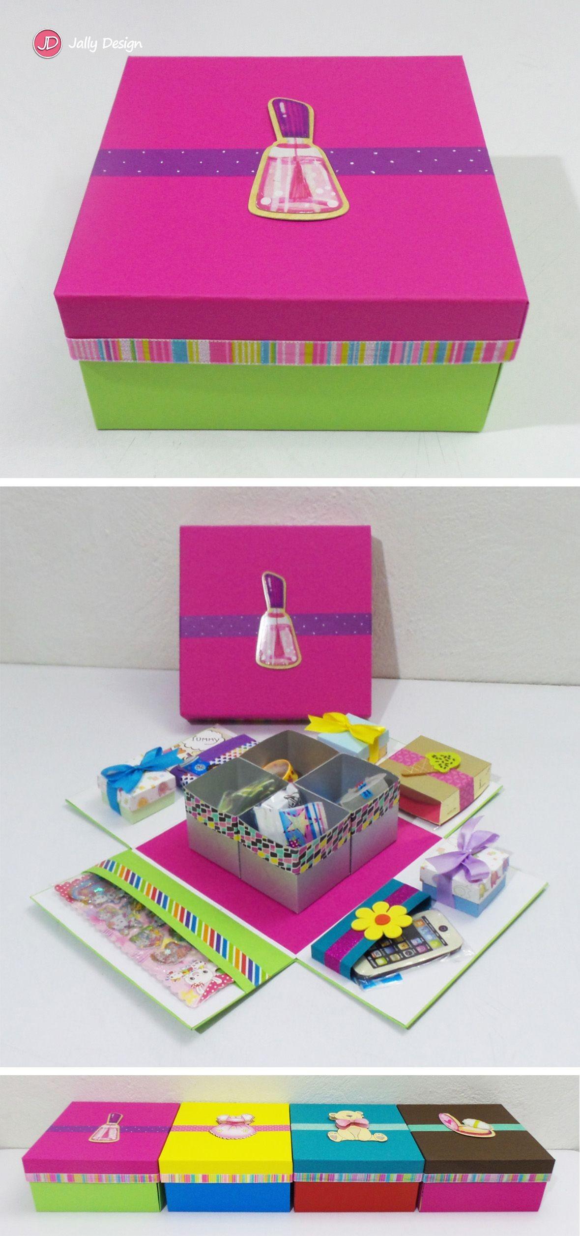 Calendario 3d Para Imprimir Y Armar Dodecaedro Más Recientes Caja Scrapbook Mini Kit De Papelera Rosa Y Verde Lim³n