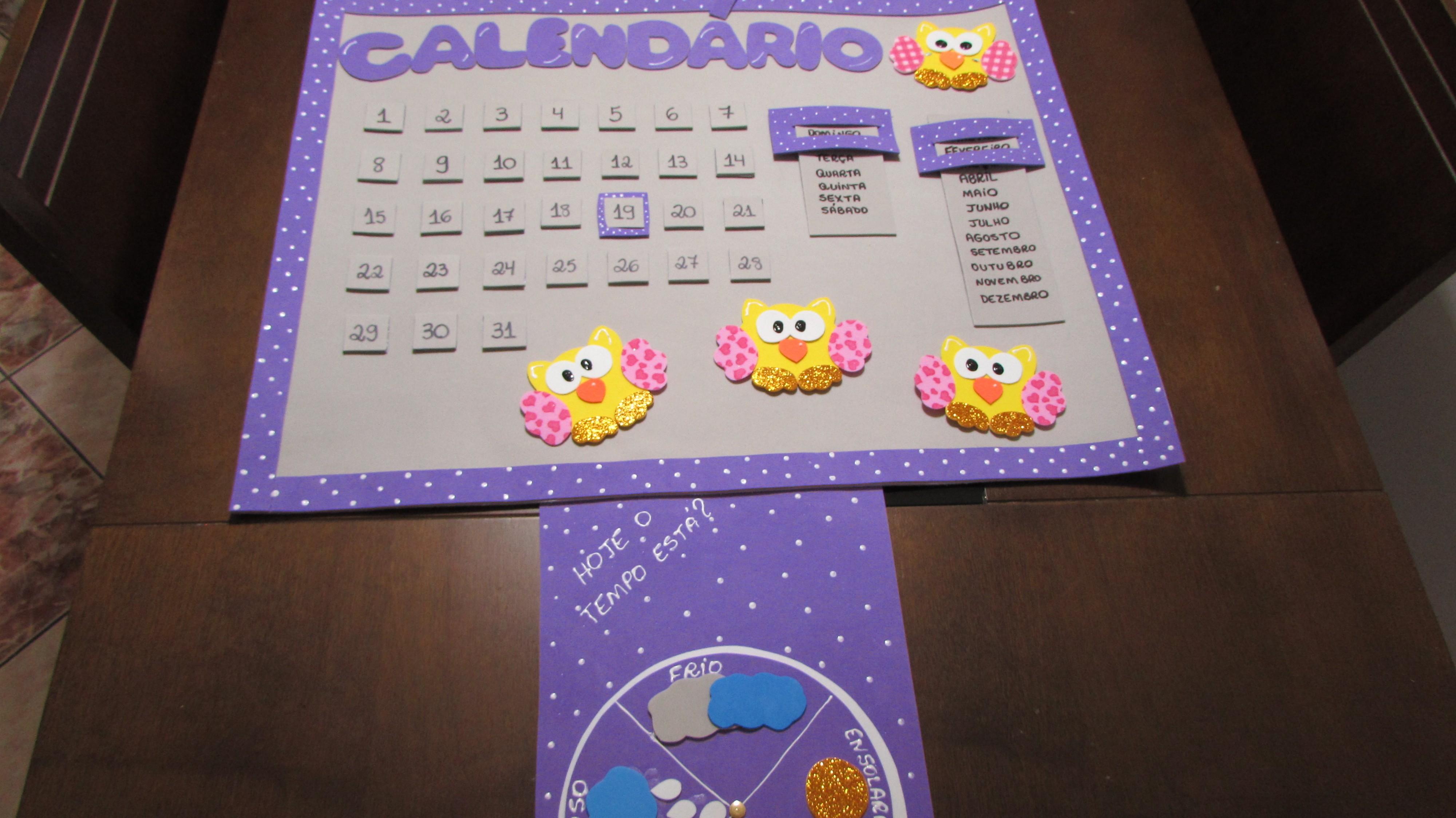 calendario painel escolar