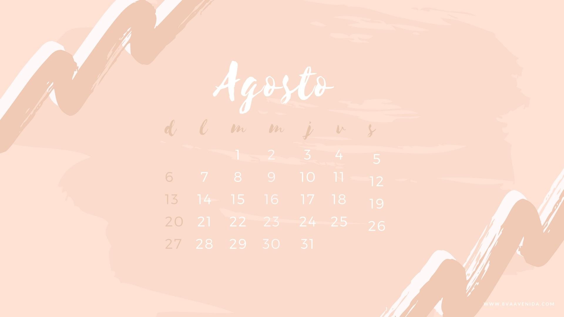 Descargar Agosto Calendario