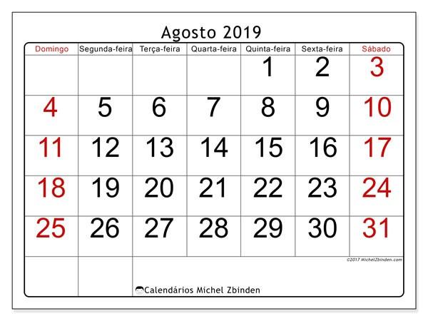 calendario agosto 2019 62ds