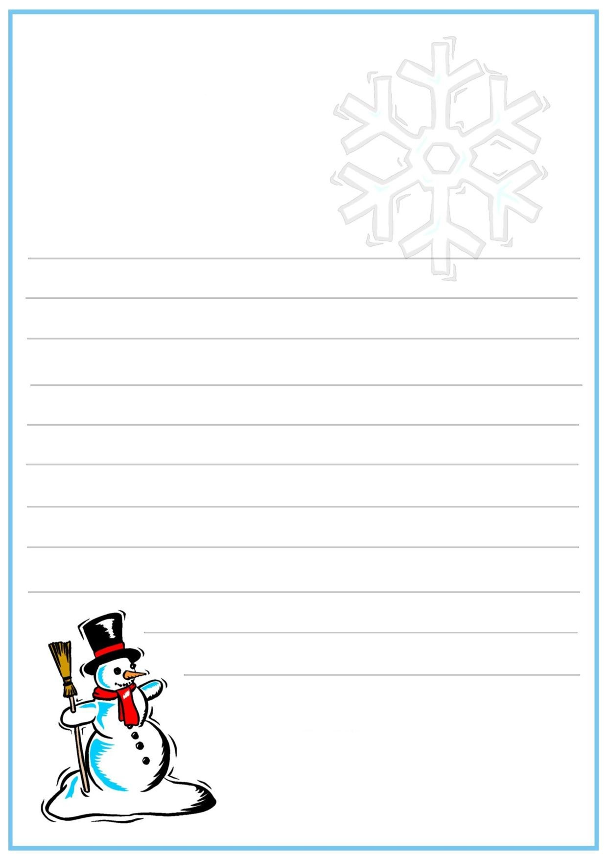 Lettera a Babbo Natale versione 12 da stampare gratis Writing Papers Mascarpone December Daily