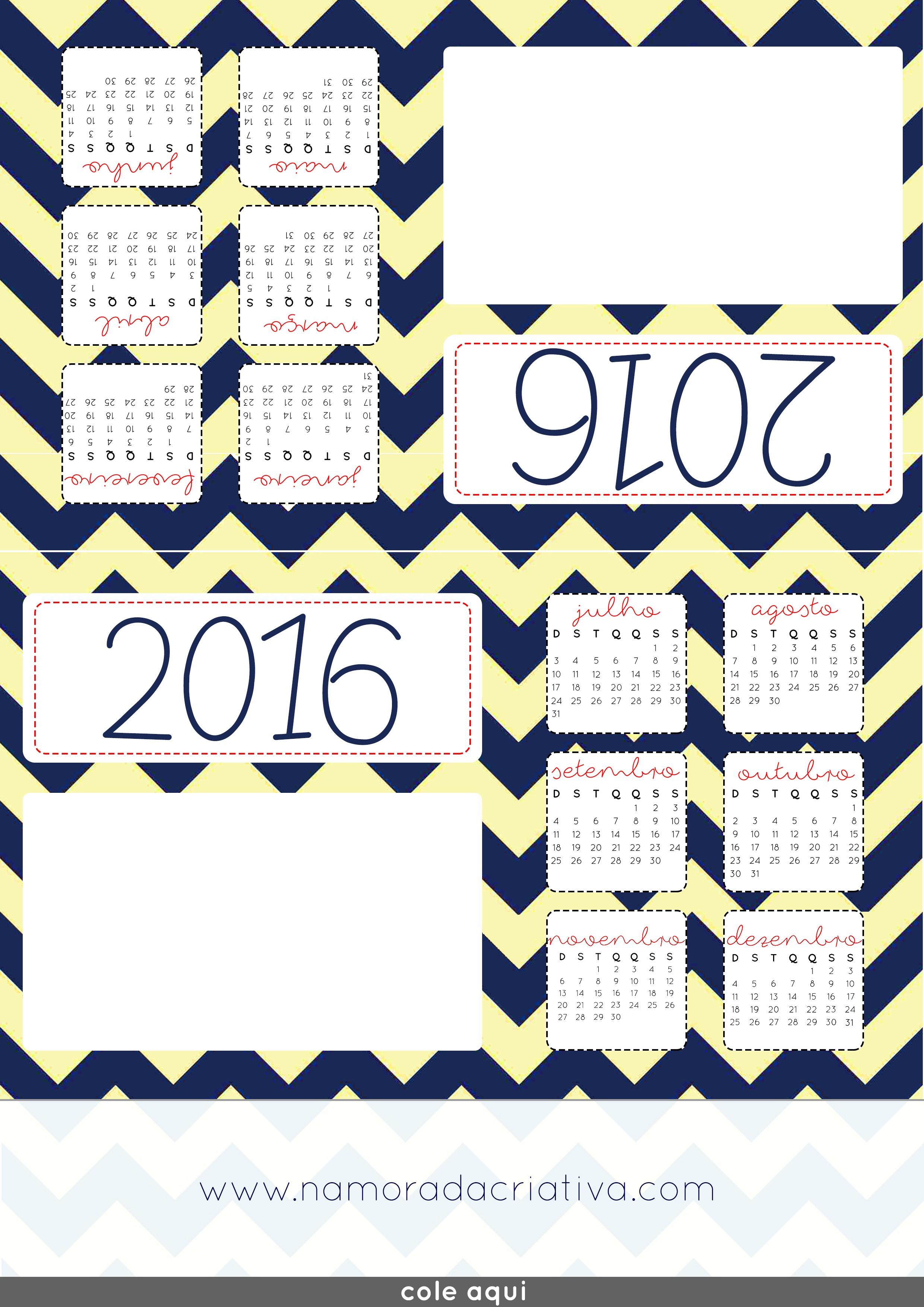 Calendário de mesa foto 2016 Namorada Criativa Por