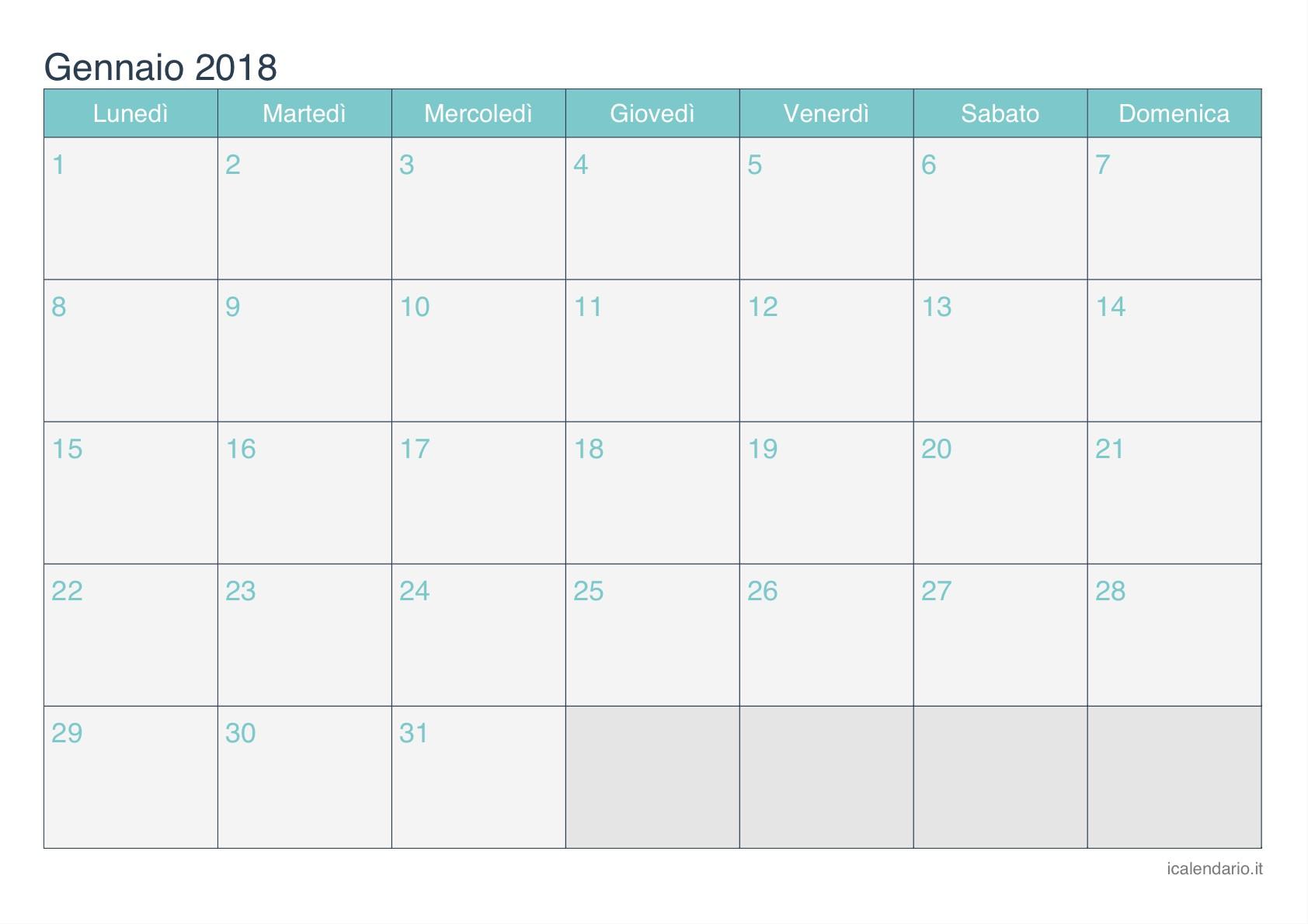 Calendario gennaio 2018 da Calendario mayo 2015 para imprimir iCalendario net
