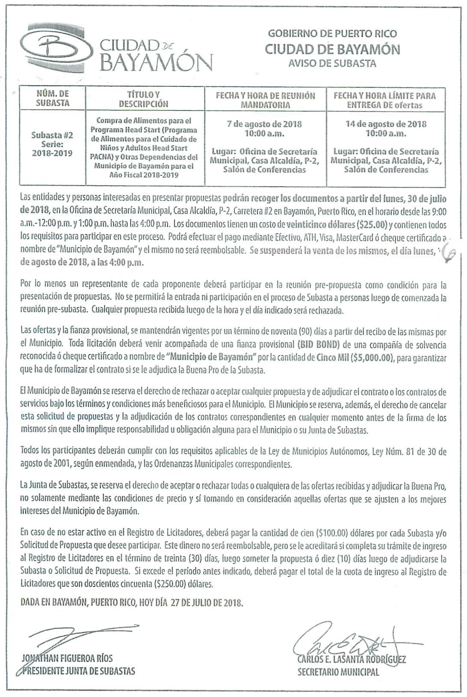 Calendario Anual 2019 Para Imprimir Chile Mejores Y Más Novedosos Avisos Pºblicos Ciudad De Bayam³n Of Calendario Anual 2019 Para Imprimir Chile Actual Este Es Realmente Calendario 2019 Word Modificabile