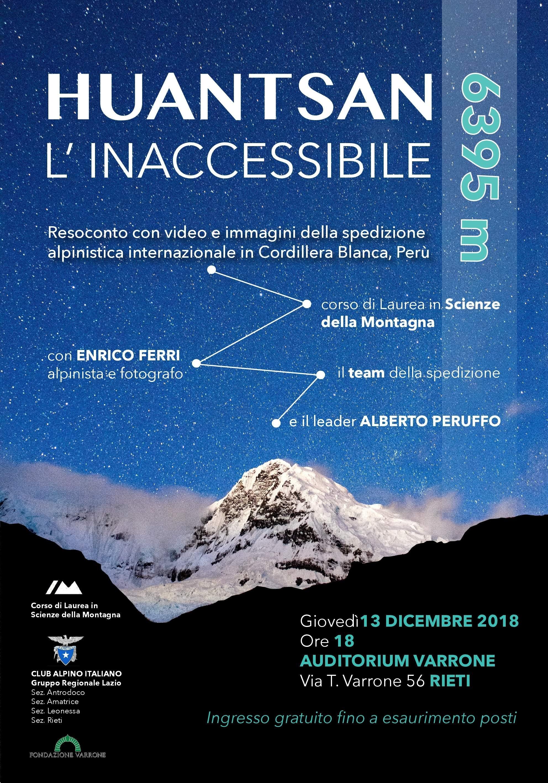 Inizia da Rieti il tour di serate in cui verranno proiettati video e foto della spedizione esplorativa internazionale guidata da Alberto Peruffo al Nevado