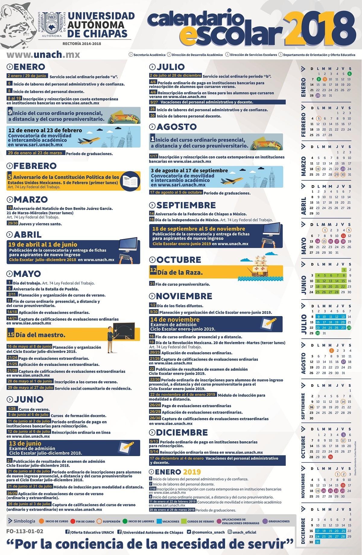 nuevo Calendario escolar