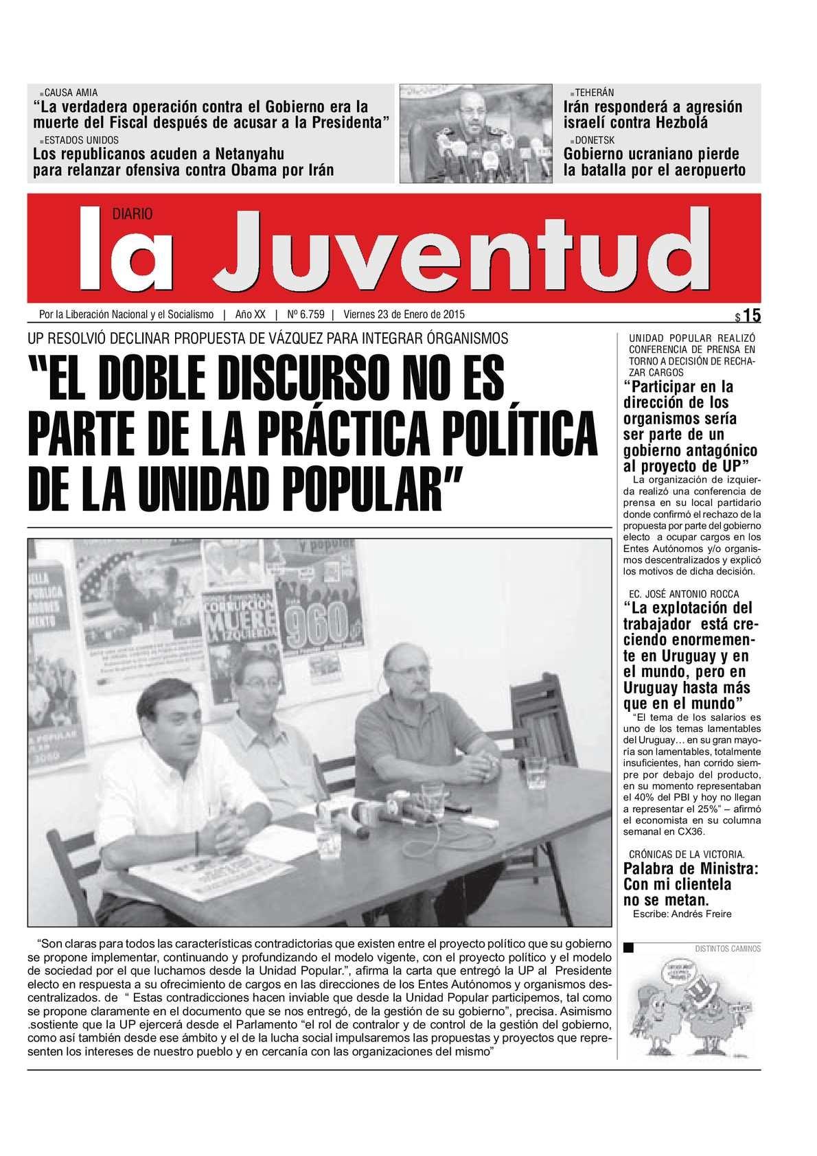 """Calaméo """"EL DOBLE DISCURSO NO ES PARTE DE LA PRCTICA POLTICA DE LA UNIDAD POPULAR"""""""