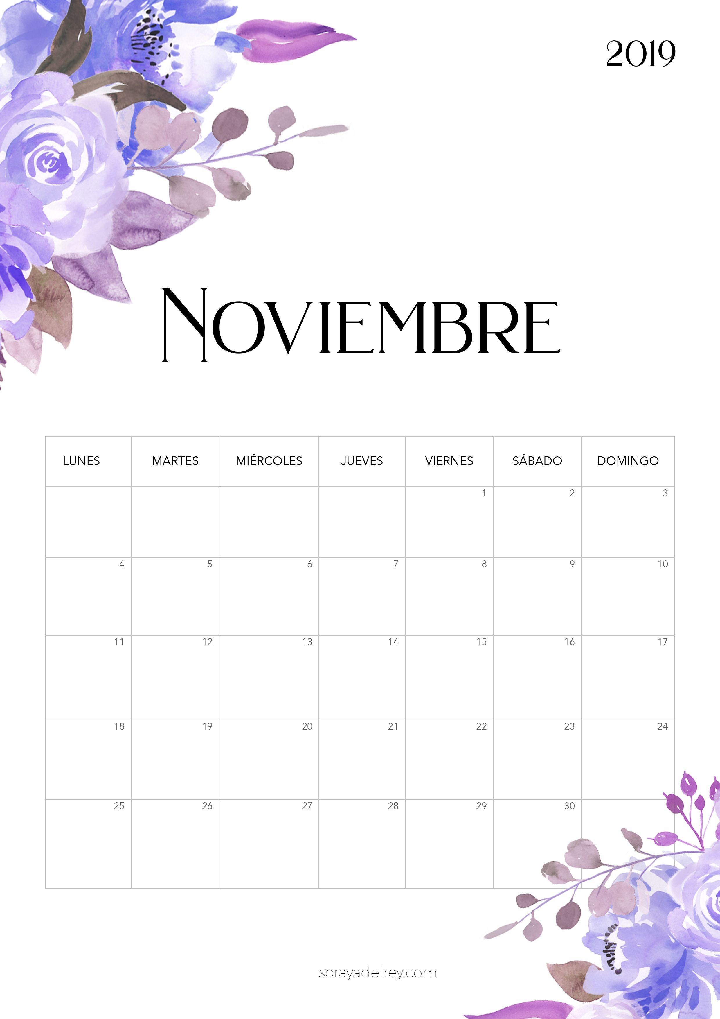 Calendario Bonito Imprimir 2019 Actual Papeleria Para Imprimir Papeleriaparaimprimir En Pinterest
