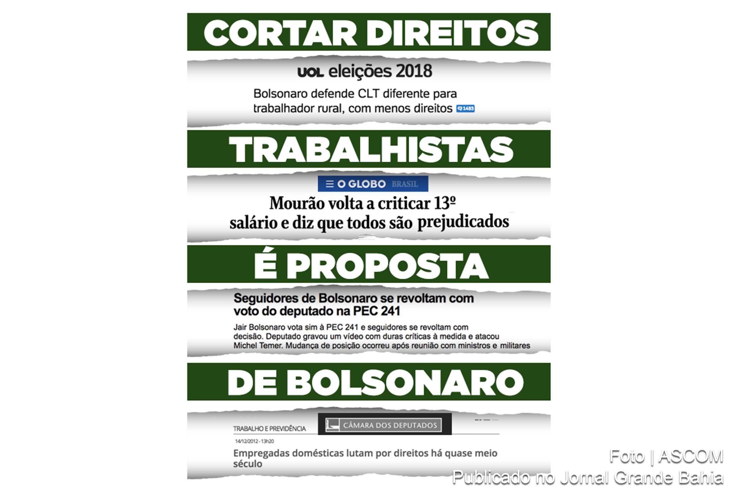 Candidato  presidente da Repºblica Jair Bolsonaro PSL RJ apresenta pauta recessiva na economia redu§£o de direitos trabalhista