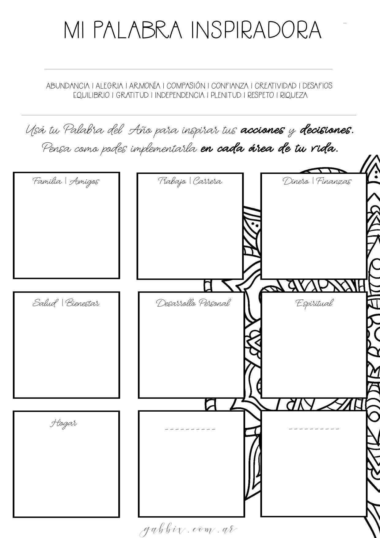Agenda 2019 con mandalas para colorear y consignas para dise±ar tu