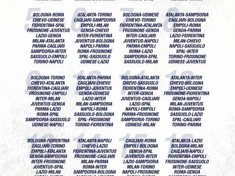 Calendario Curso Escolar 2017-18 Imprimir Mejores Y Más Novedosos Calendario Serie A 17 18 Ottobre 2019 Calendario Serie A 2018 2019