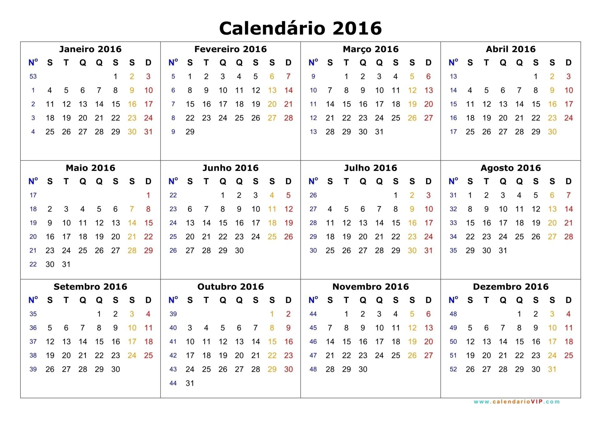 Calendarios 2016 02 Calendarios 2016 para imprimir