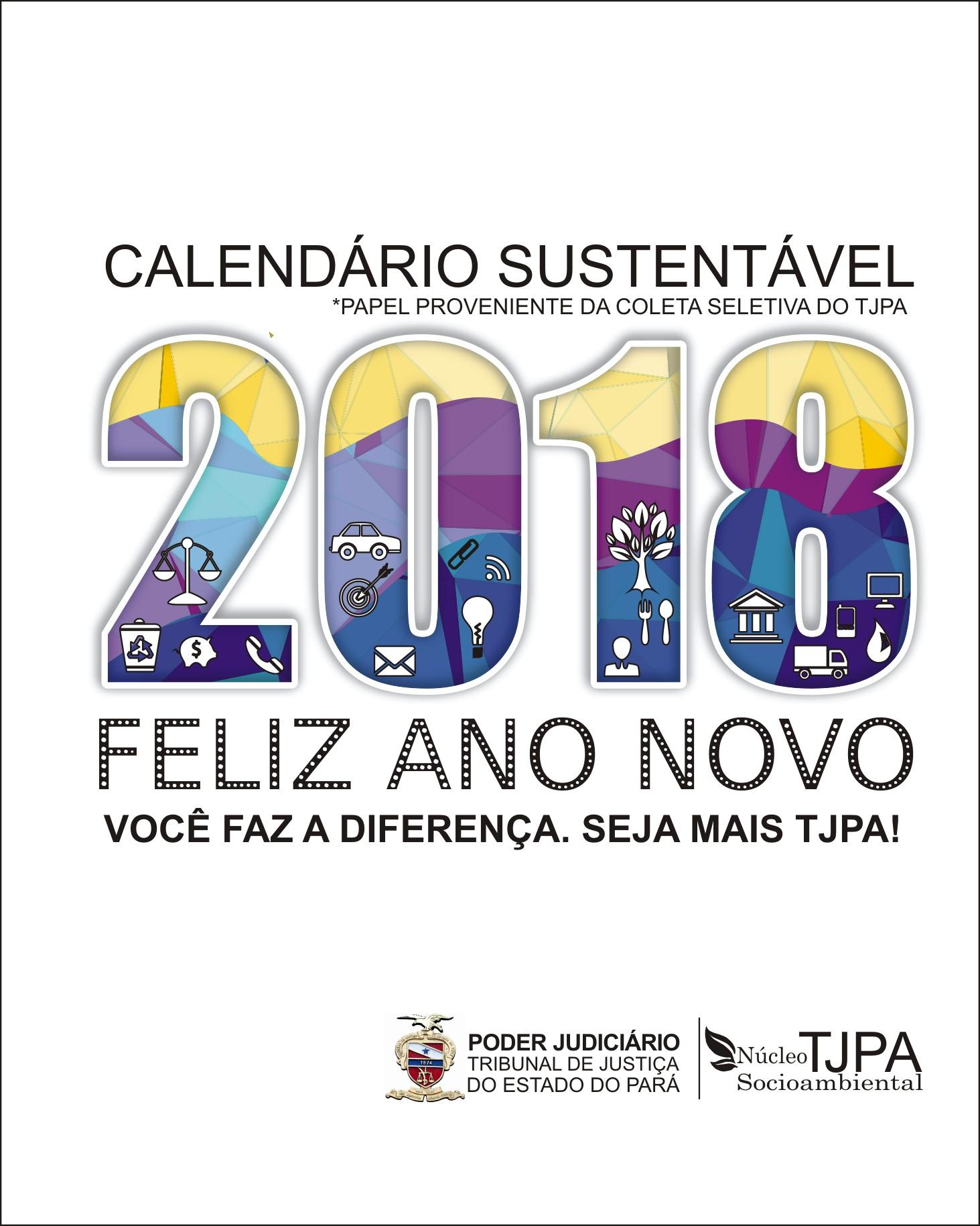 TJPA Nºcleo Socioambiental Calendário Sustentável TJPA 2018