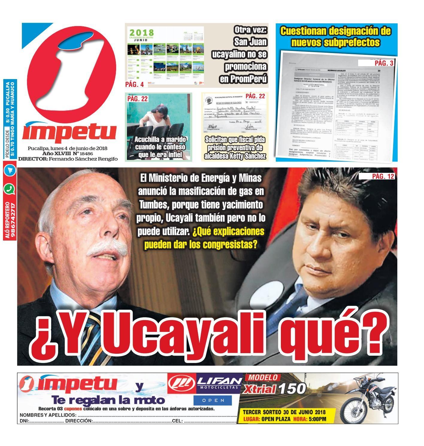 Impetu 04 de junio del 2018 by Diario mpetu issuu