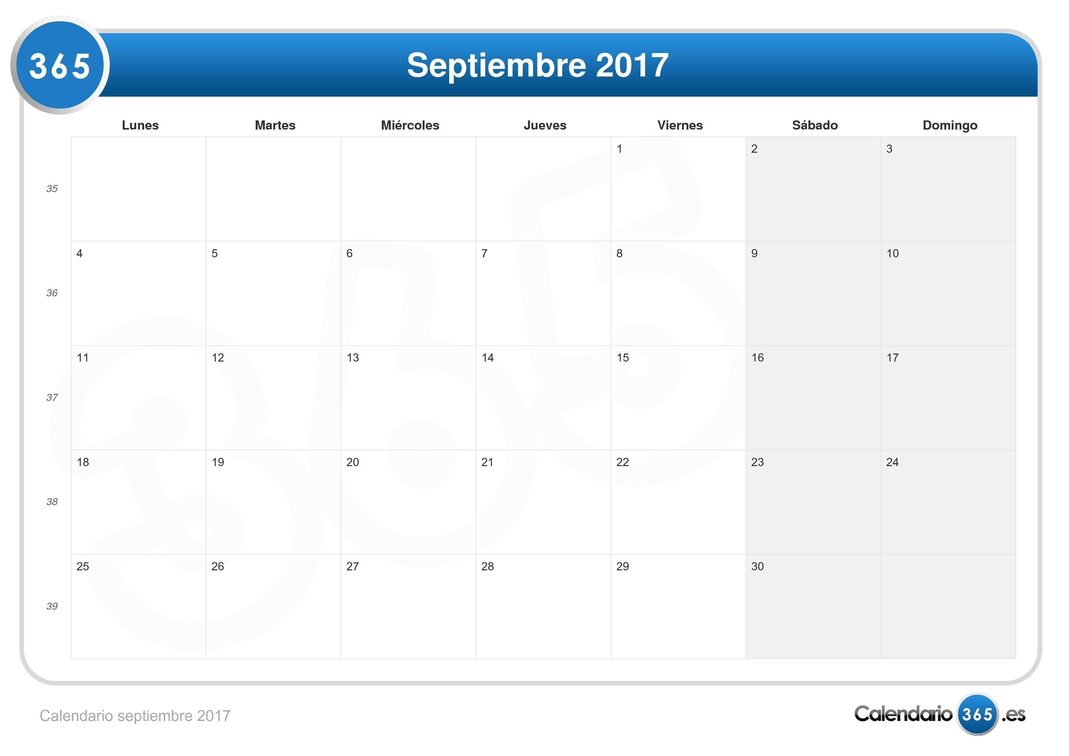 imprimir con feriados chile descarga cinco calendarios para septiembre de 2017 1 2 3 4