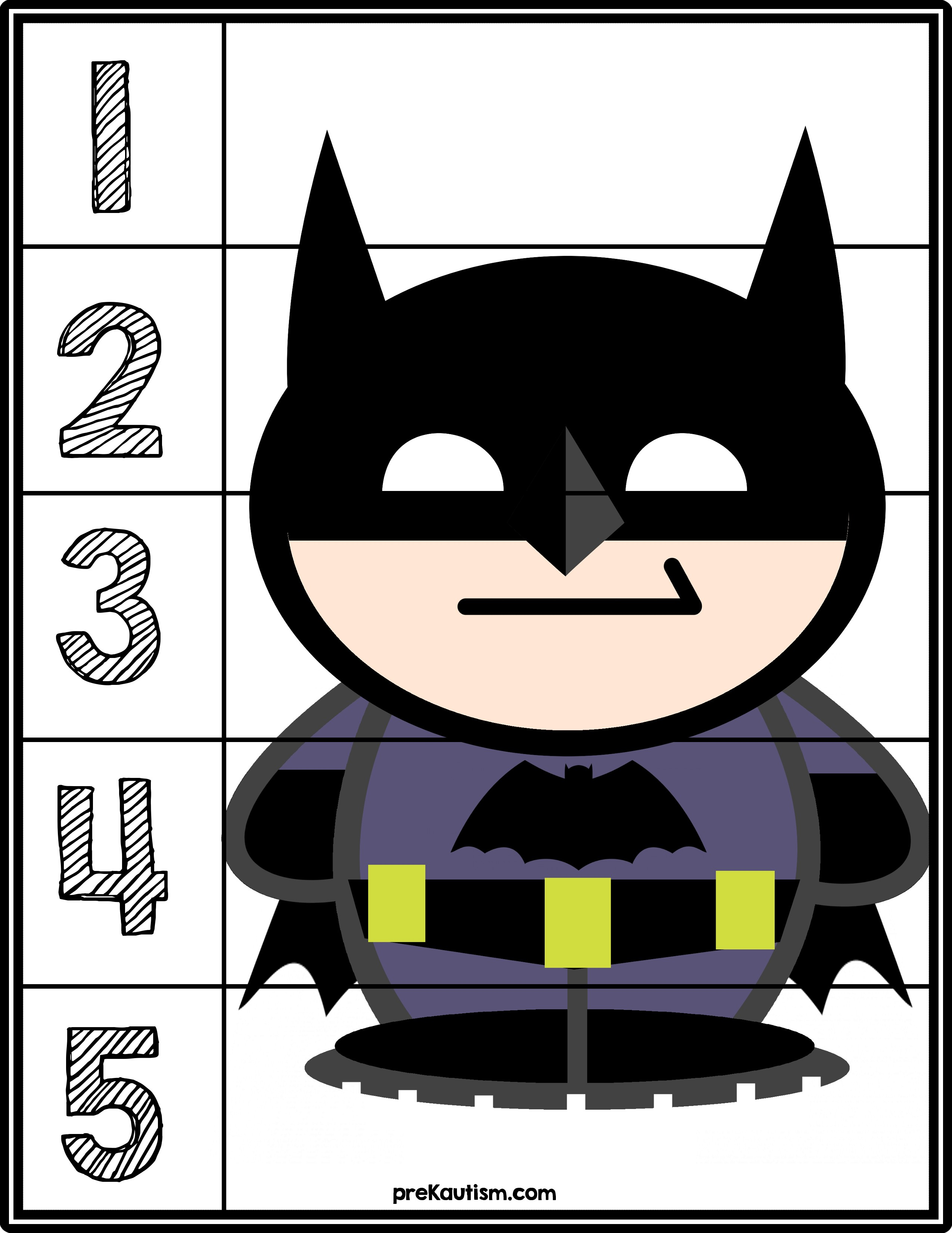 Free printable materials for working on basic number sense skills Tar numbers 1 5 with this simple and effective activity