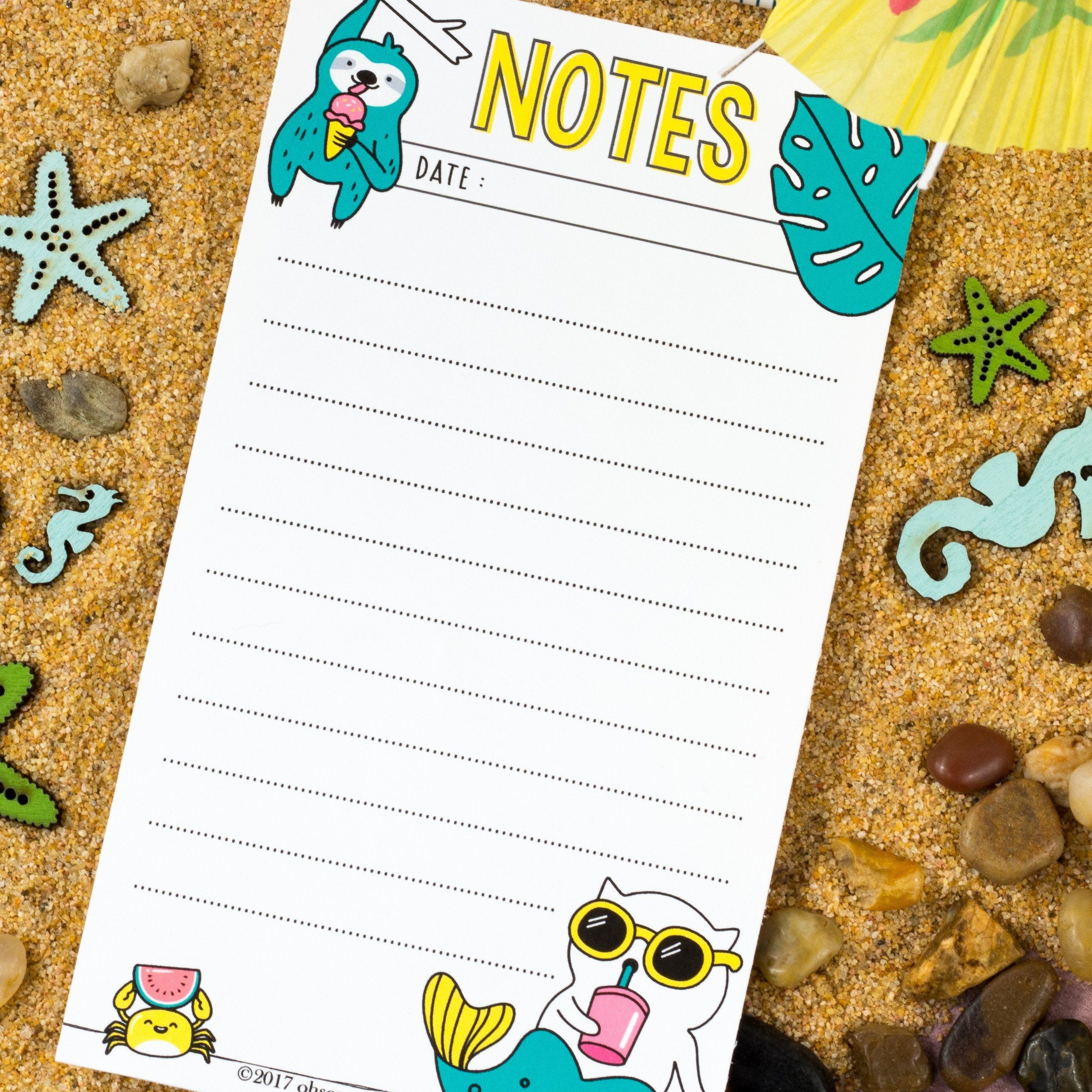 Free Printable Tropical Chill Notepaper from ohsopaper store checkout required