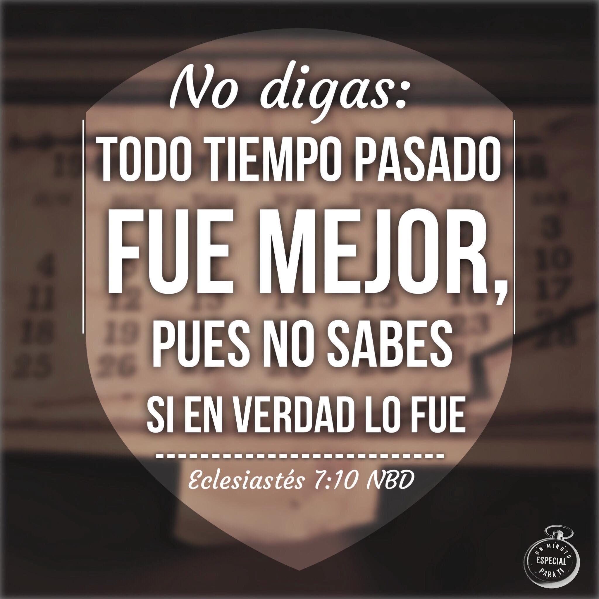 Eclesiastes 7 10