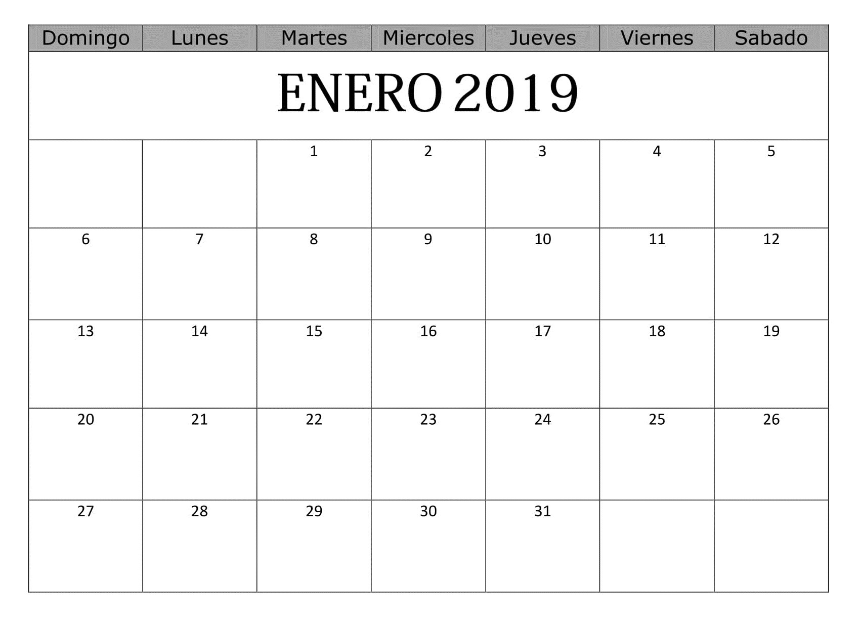 Calendario Del 2019 Chile Más Arriba-a-fecha Best Calendario Enero 2019 Para Imprimir Gratis Image Collection