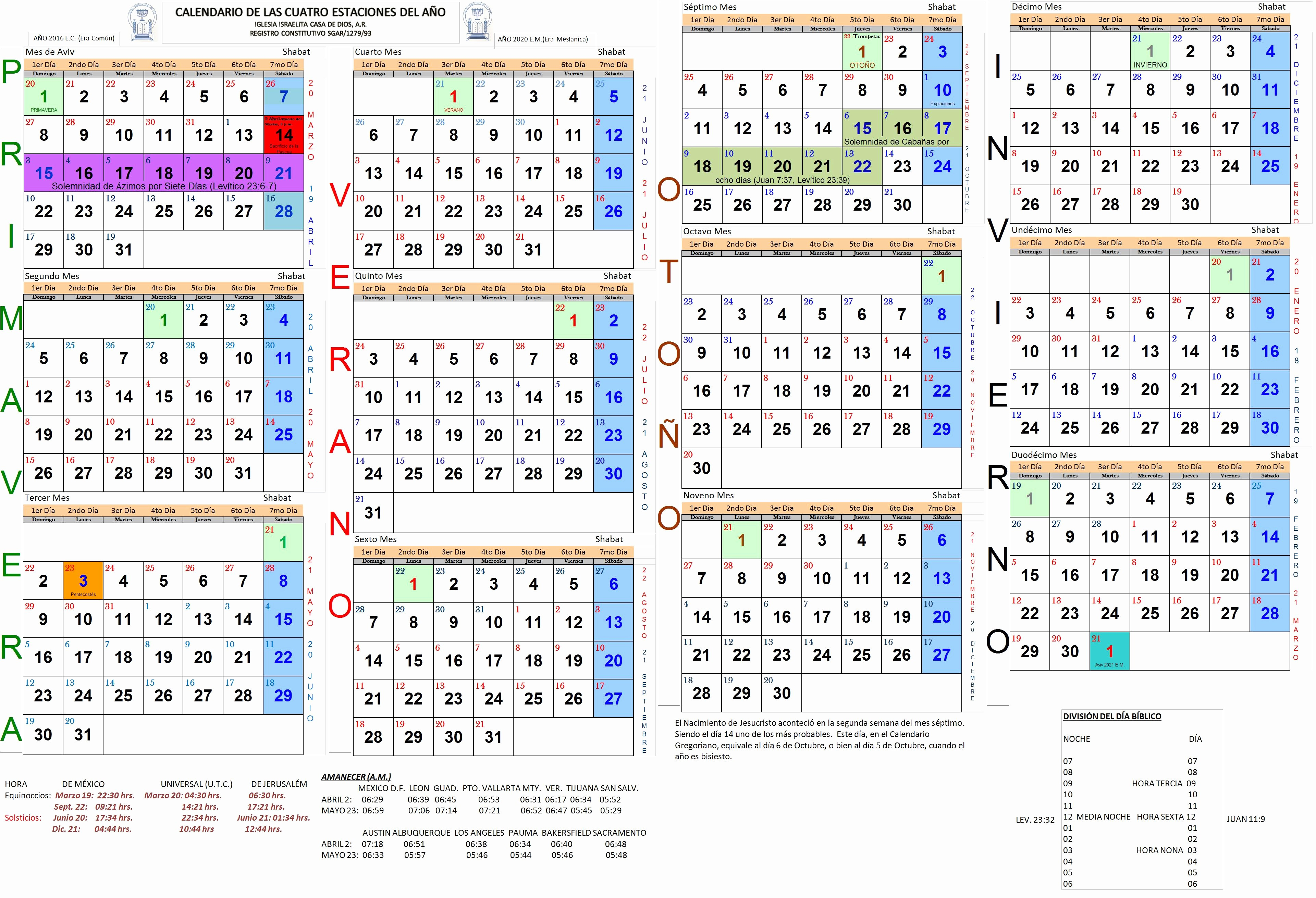 Calendario 2019 Pascua Iglesia israelita Casa De Dios Noticias Anuncios