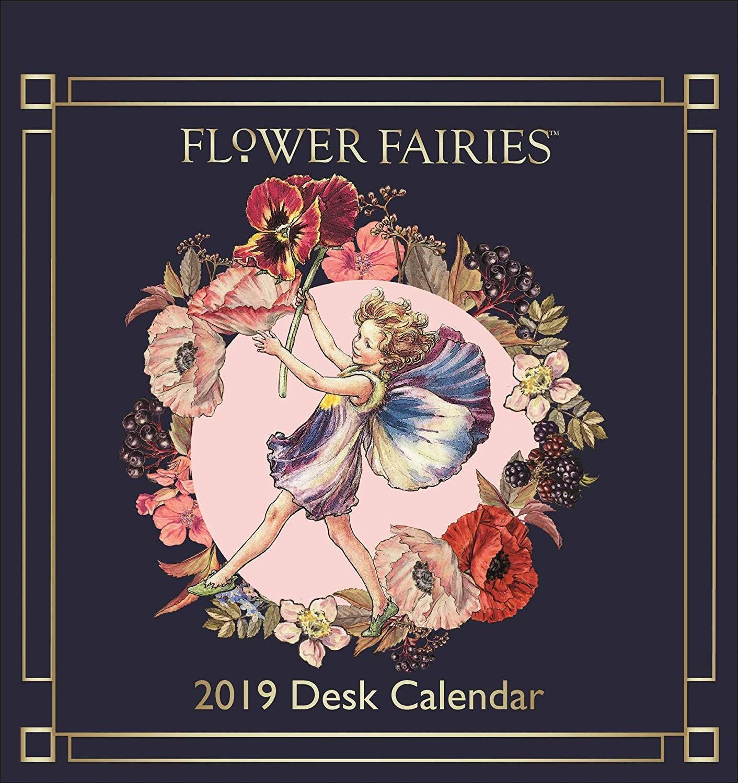 Calendario de escritorio 2019 dise±o de hadas de flores Amazon icina y papelera