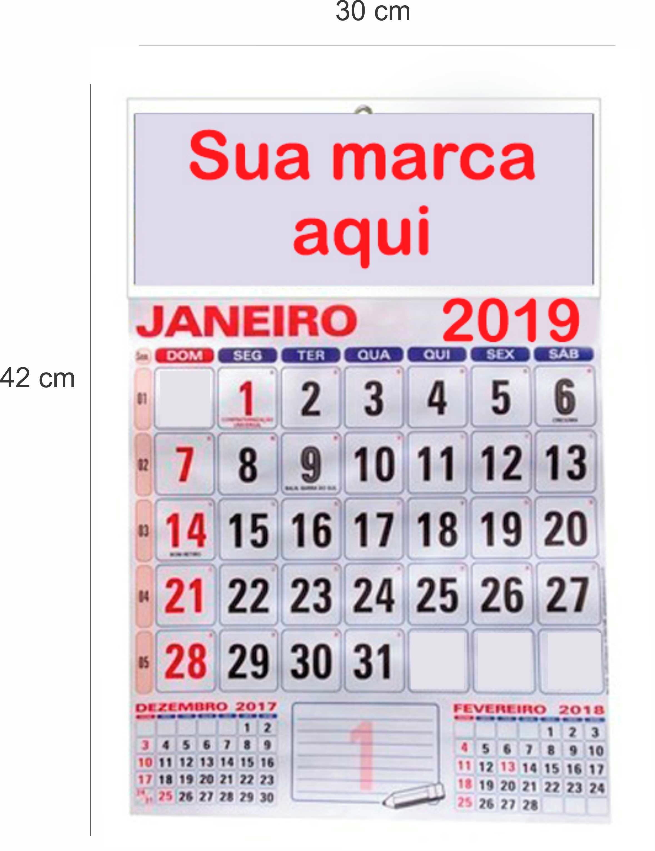 calendario de parede 2019 parede